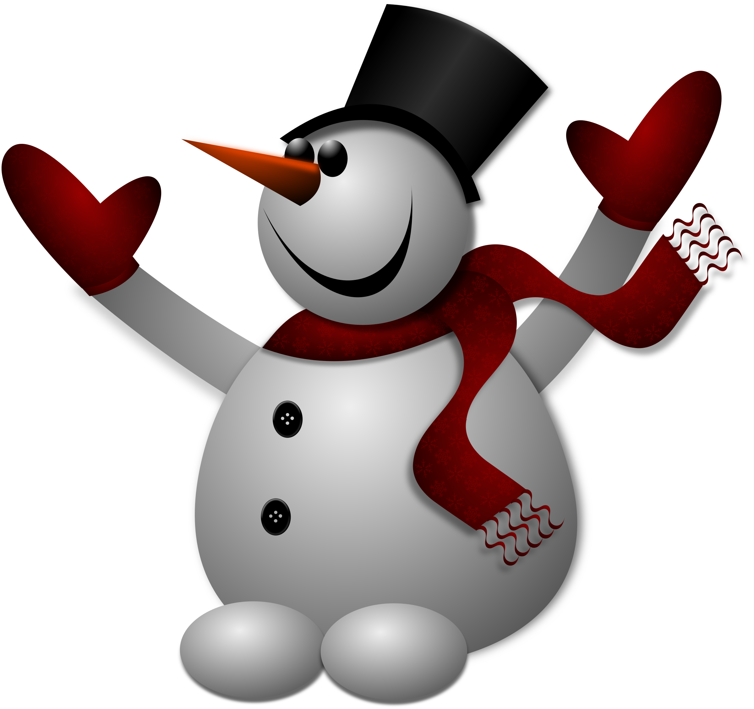 Happy Snowman 2 by Merlin2525