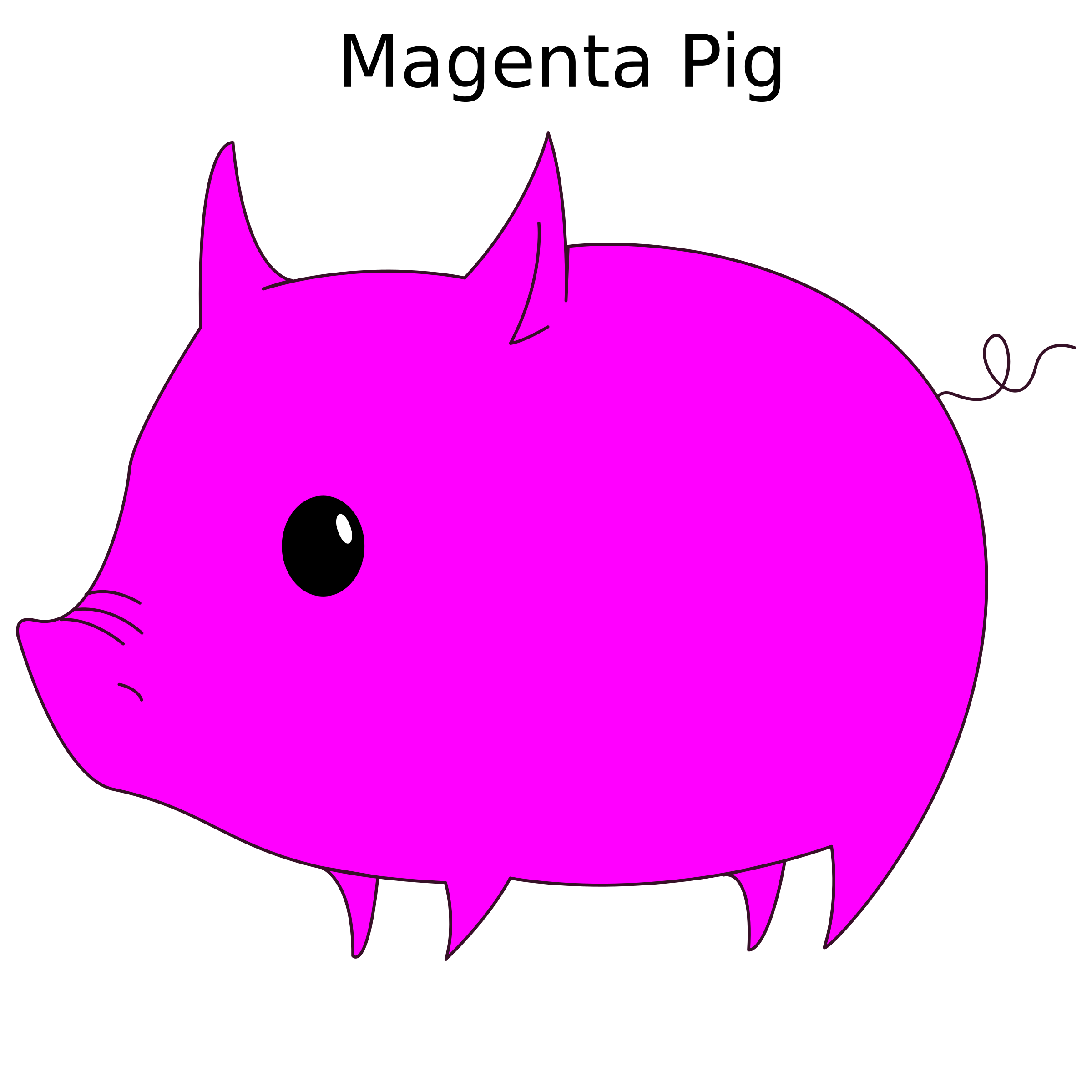 Magenta Pig by 10binary