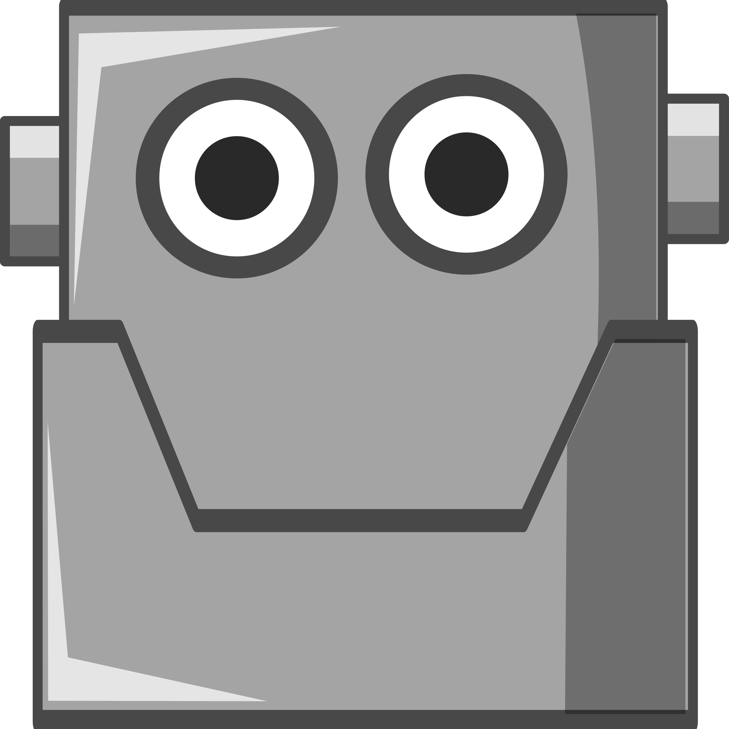 Cute Robot Head (Same Eyes) by qubodup