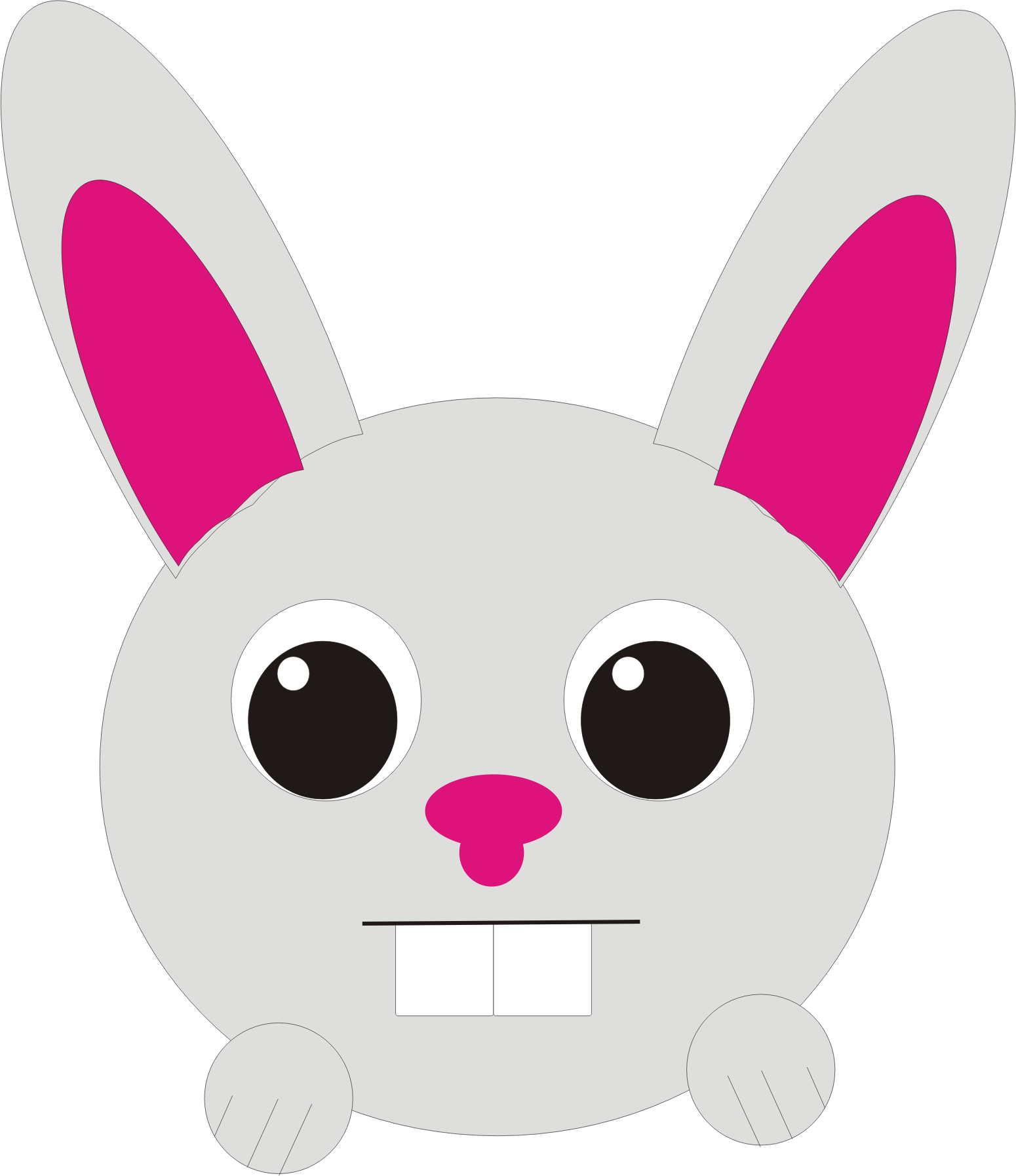 Gambar Clipart Rabbit Big Image Png Gambar Kelinci Animasi Lucu Di
