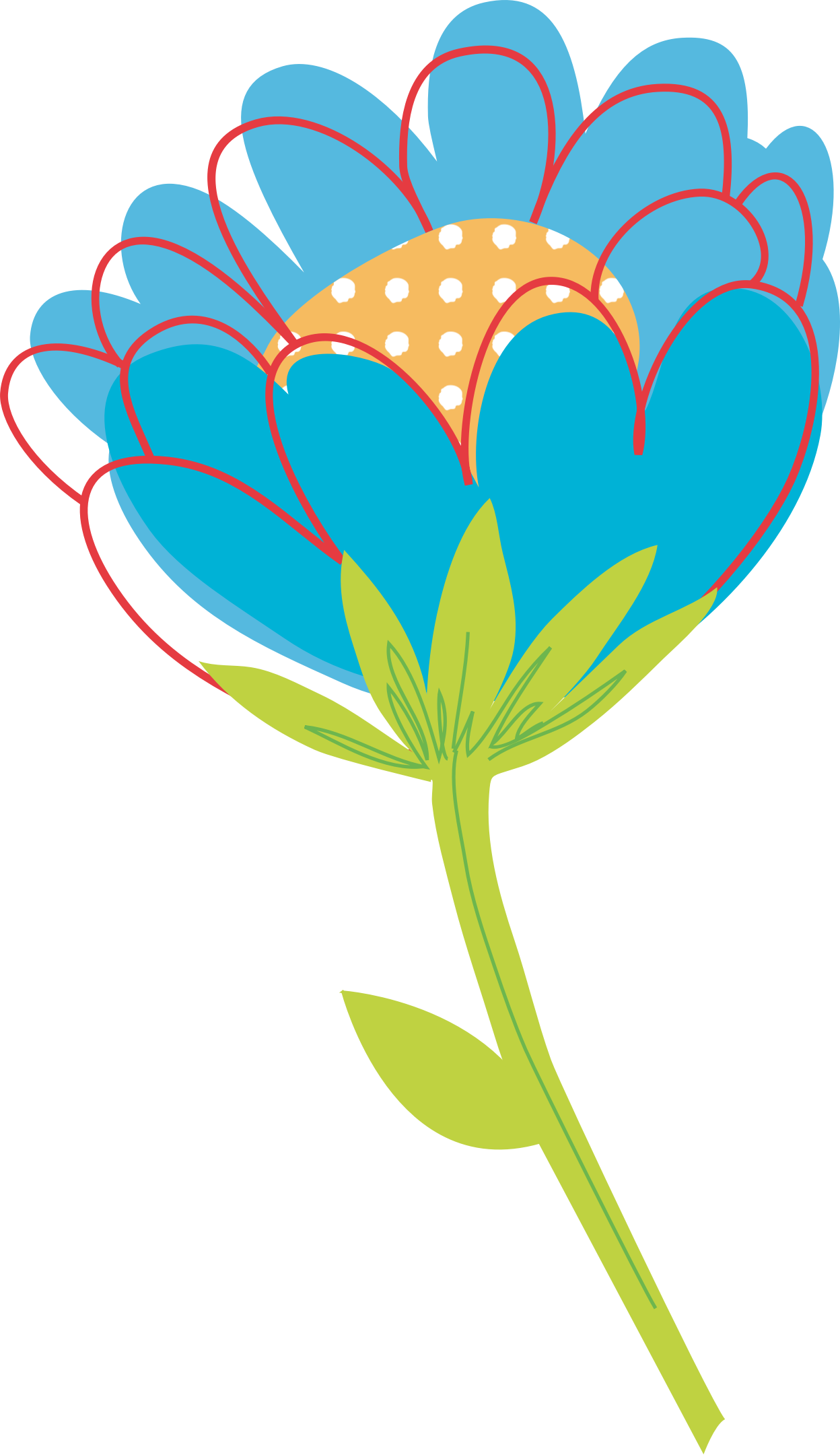 Blue Flower Vector by Konand