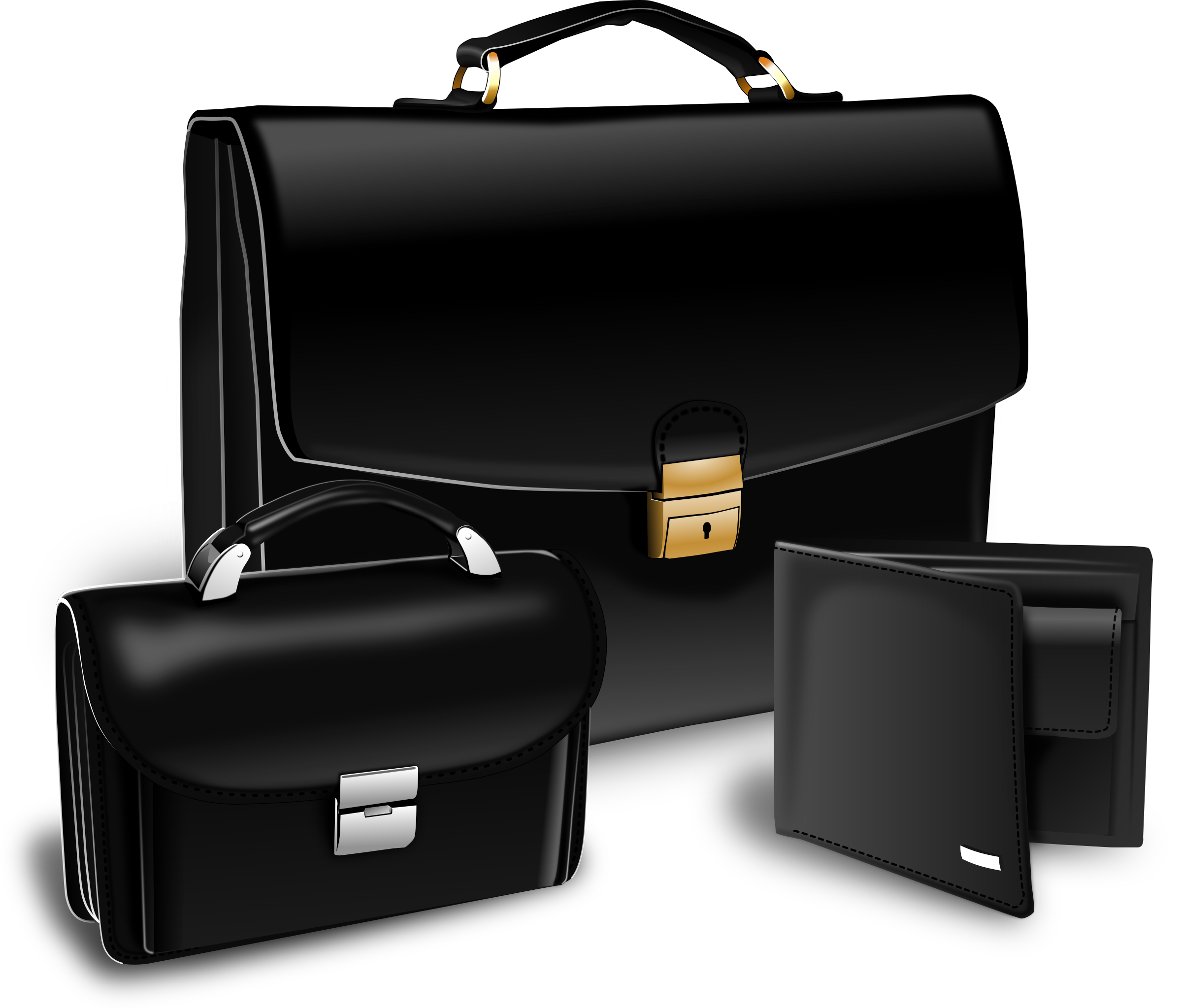 Suitcase, purse and handy by acvarium