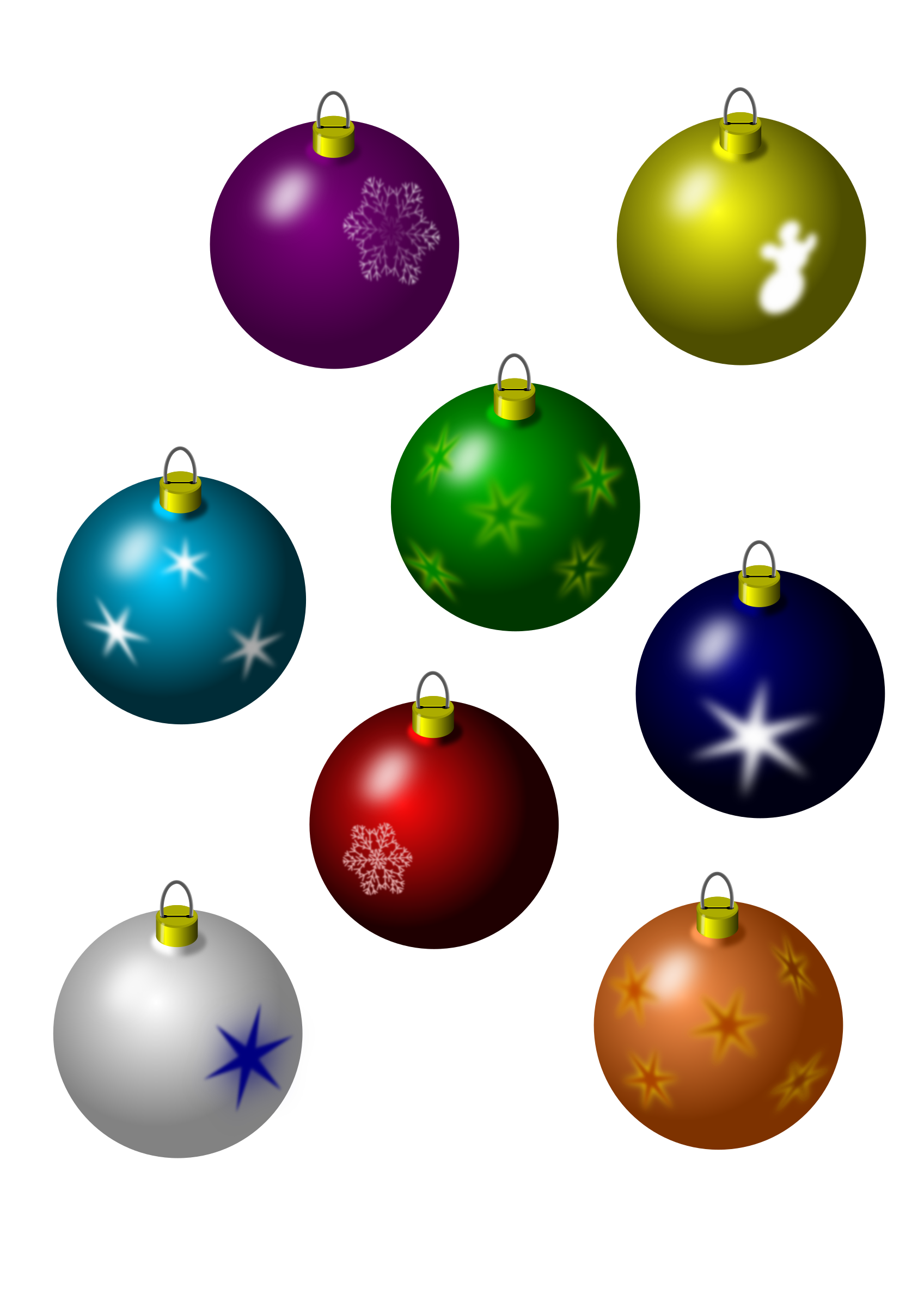 christmas bulbs by jarda