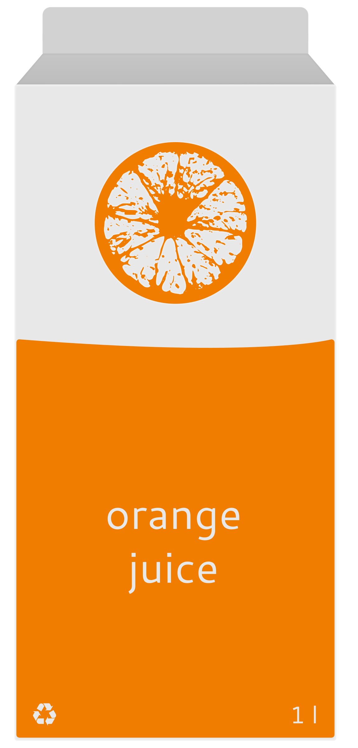 Orange juice carton by Mirek2