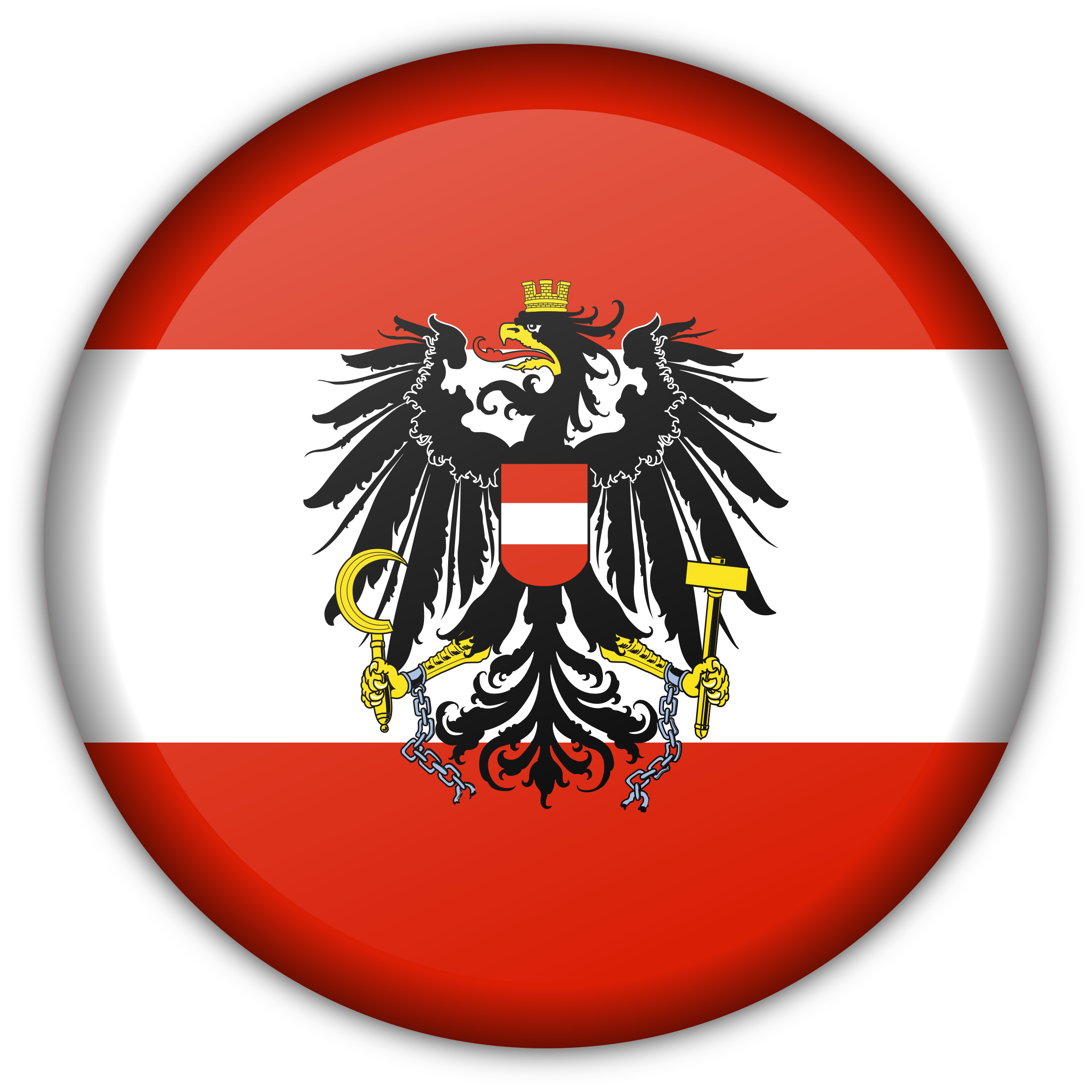 Austrian Flag Button by rcheetah