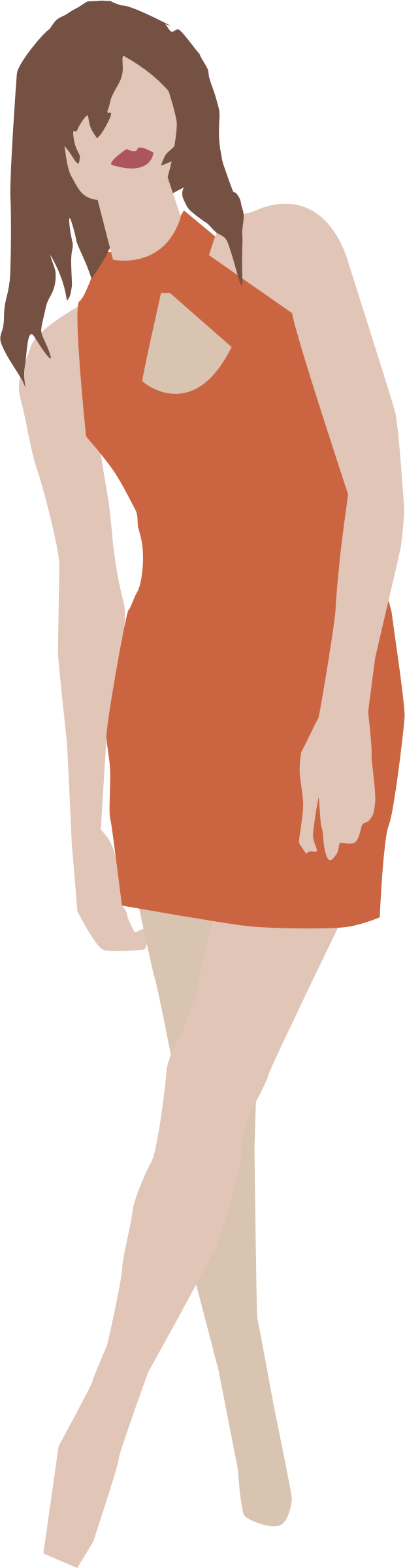 Girl in simple dress by tribla