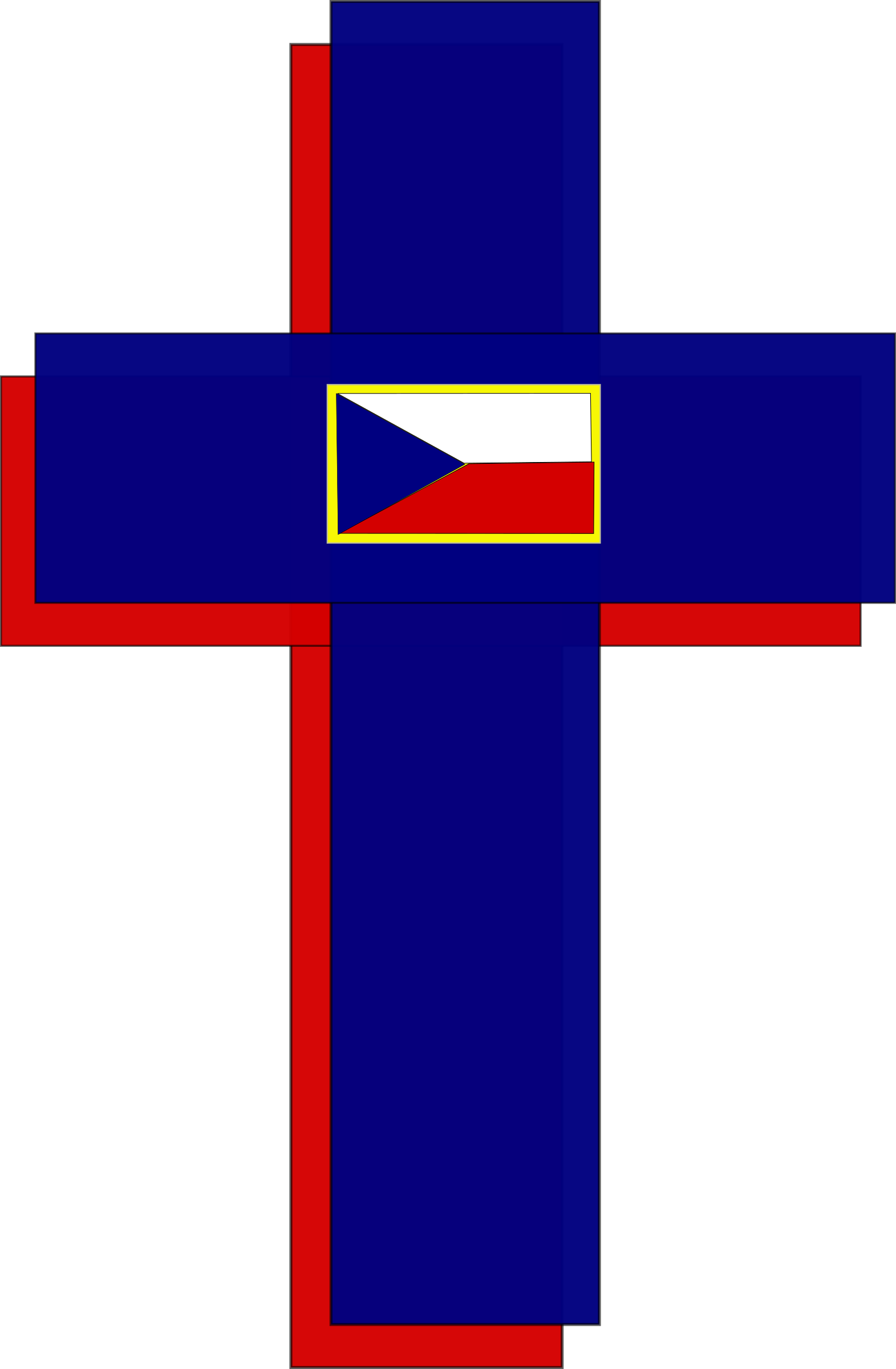 Cross and Czech Flag by wordtoall.org