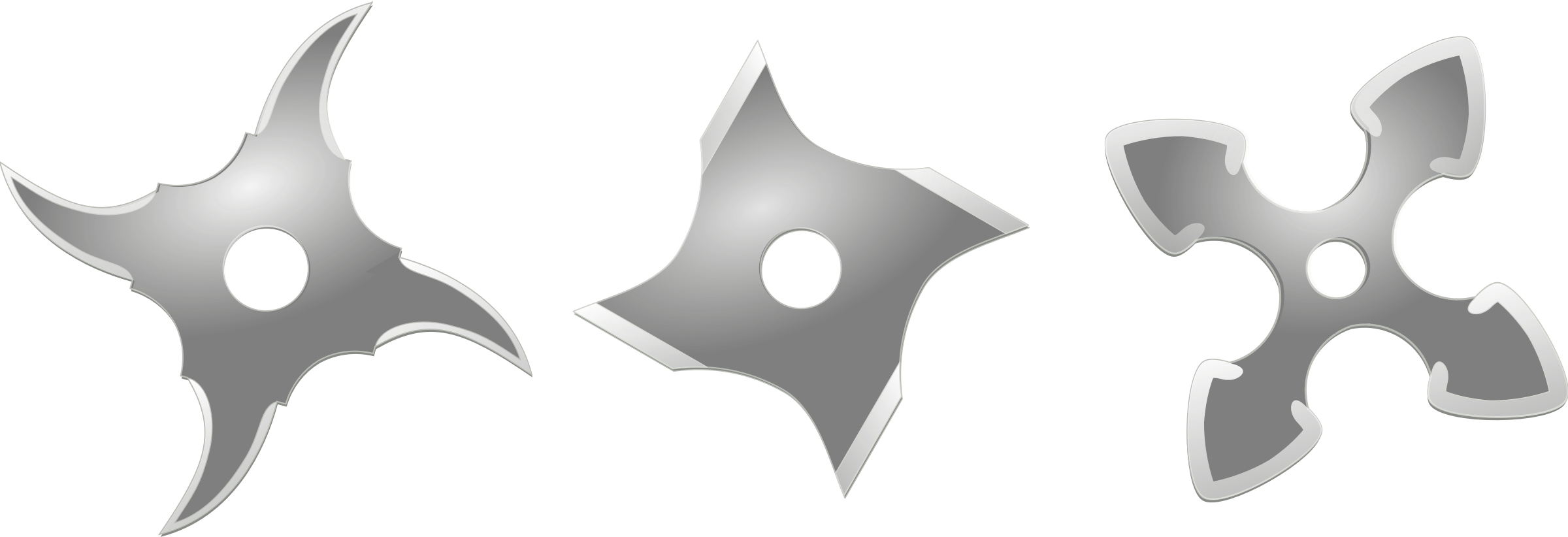 silver shurikens by ruthirsty