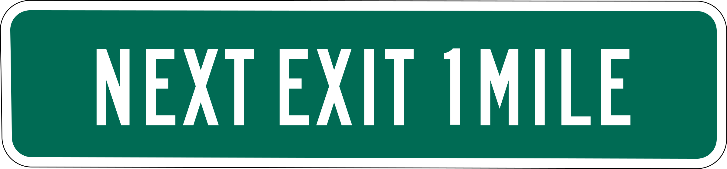 Next Exit 1 mile by Rfc1394