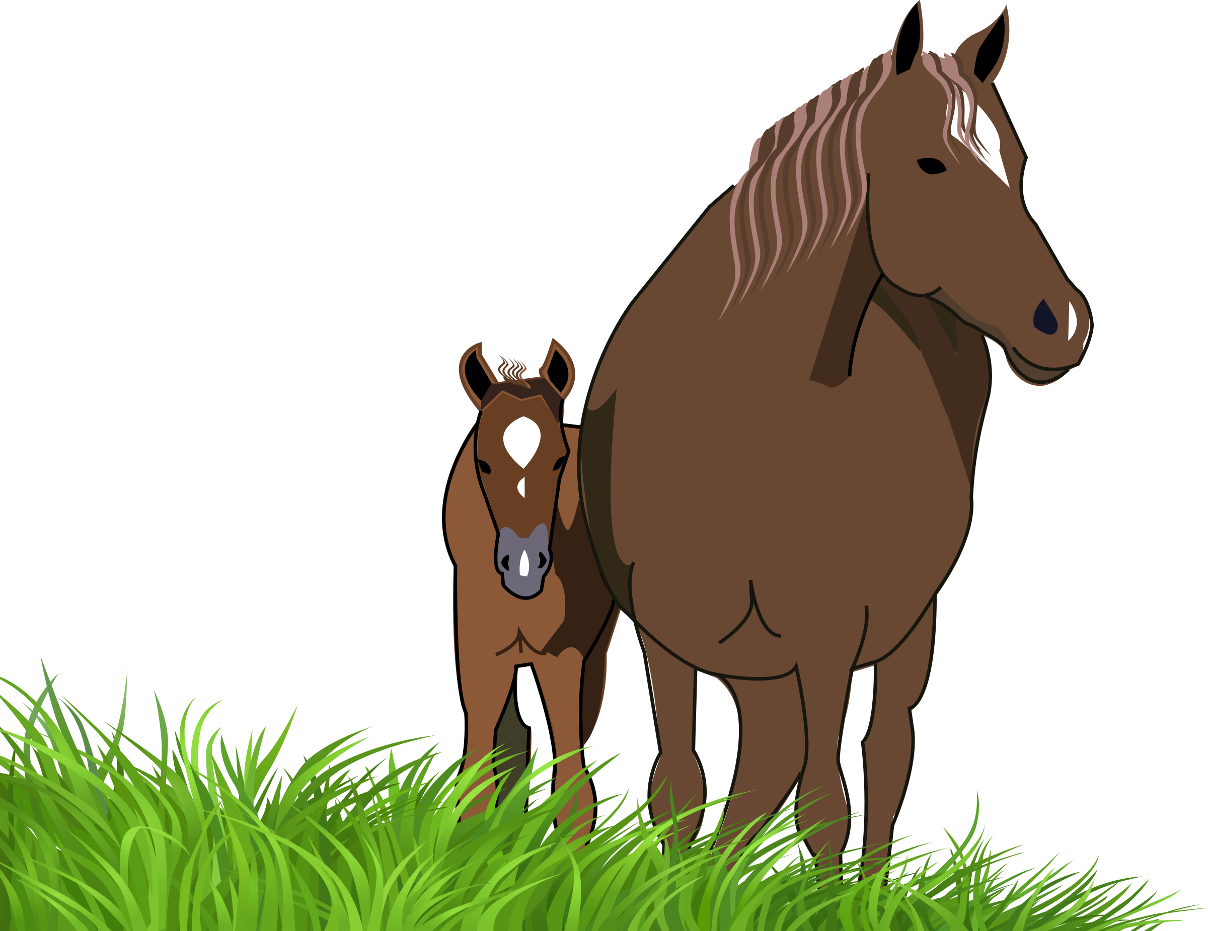 mare and foal by presquesage