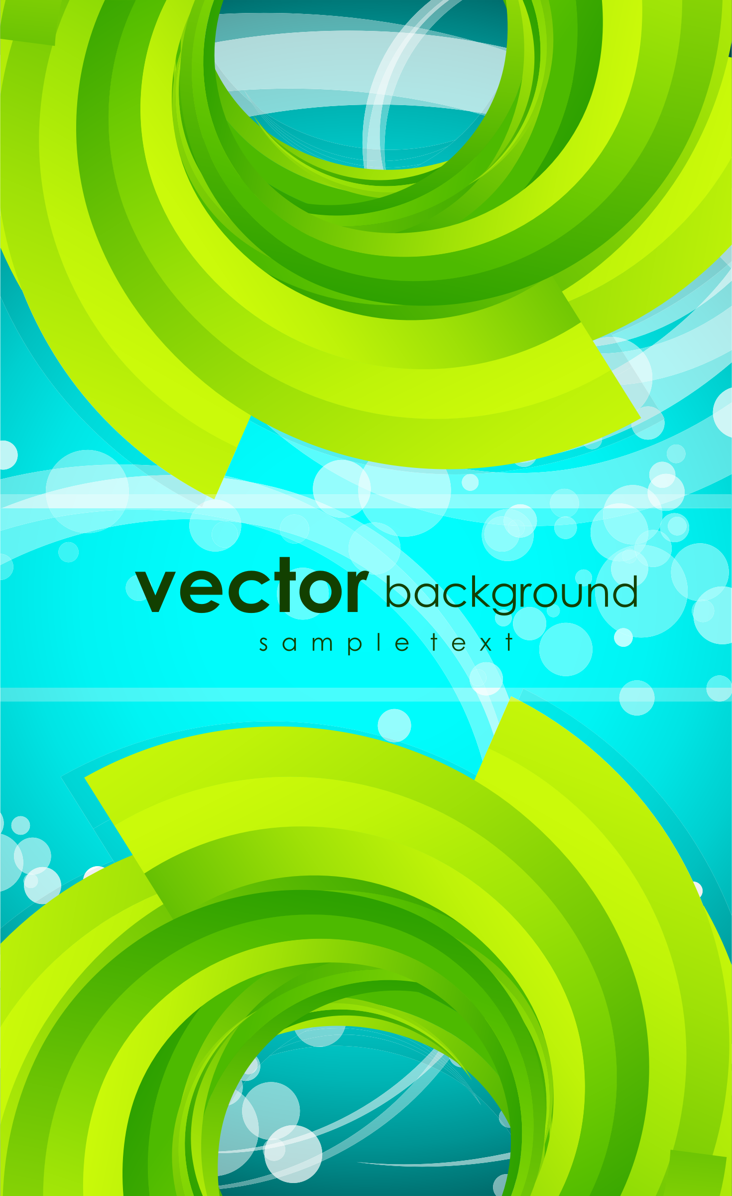 Green Abstract background by vectorbackground