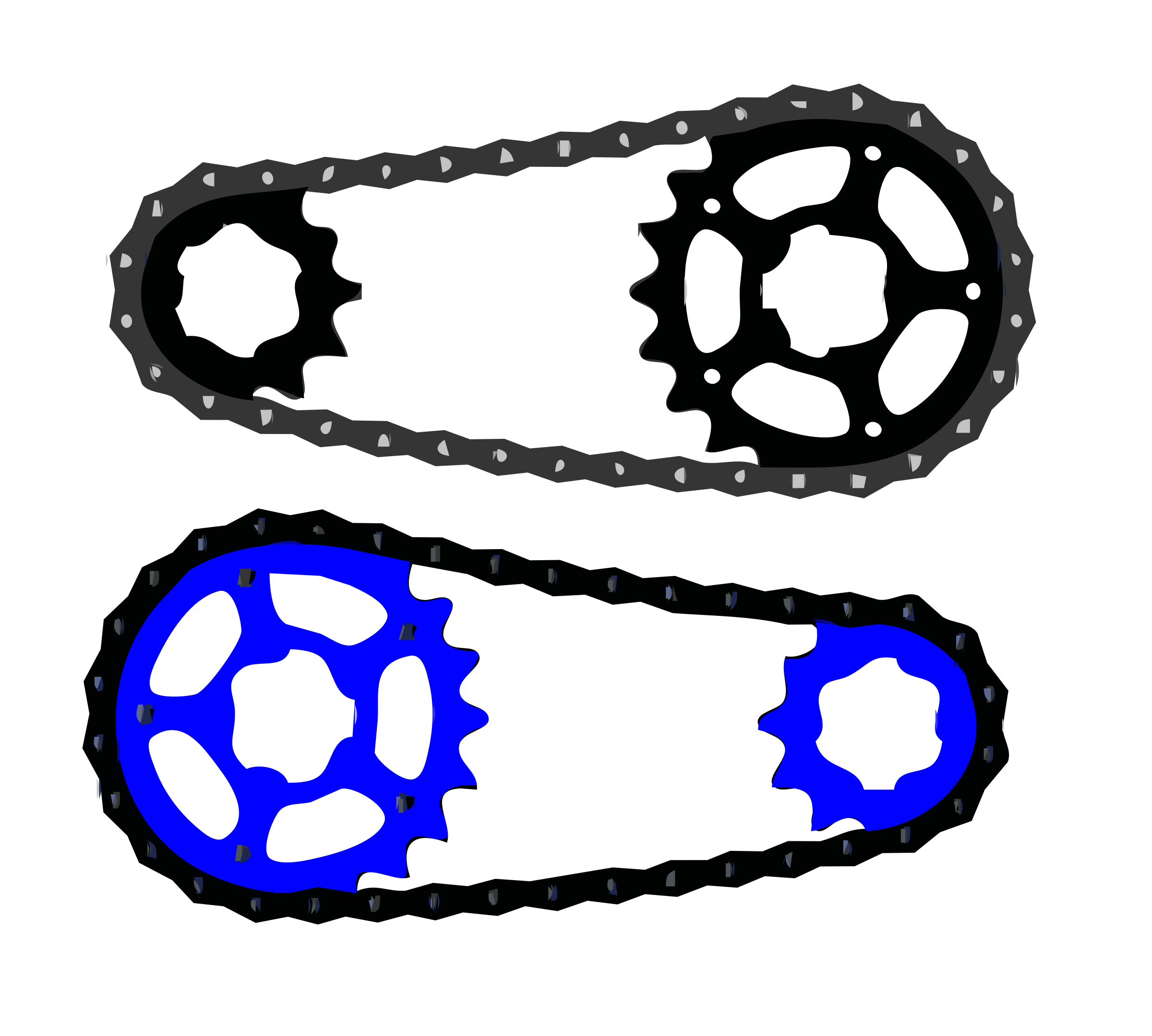 Bicycle chain vector by kingston123