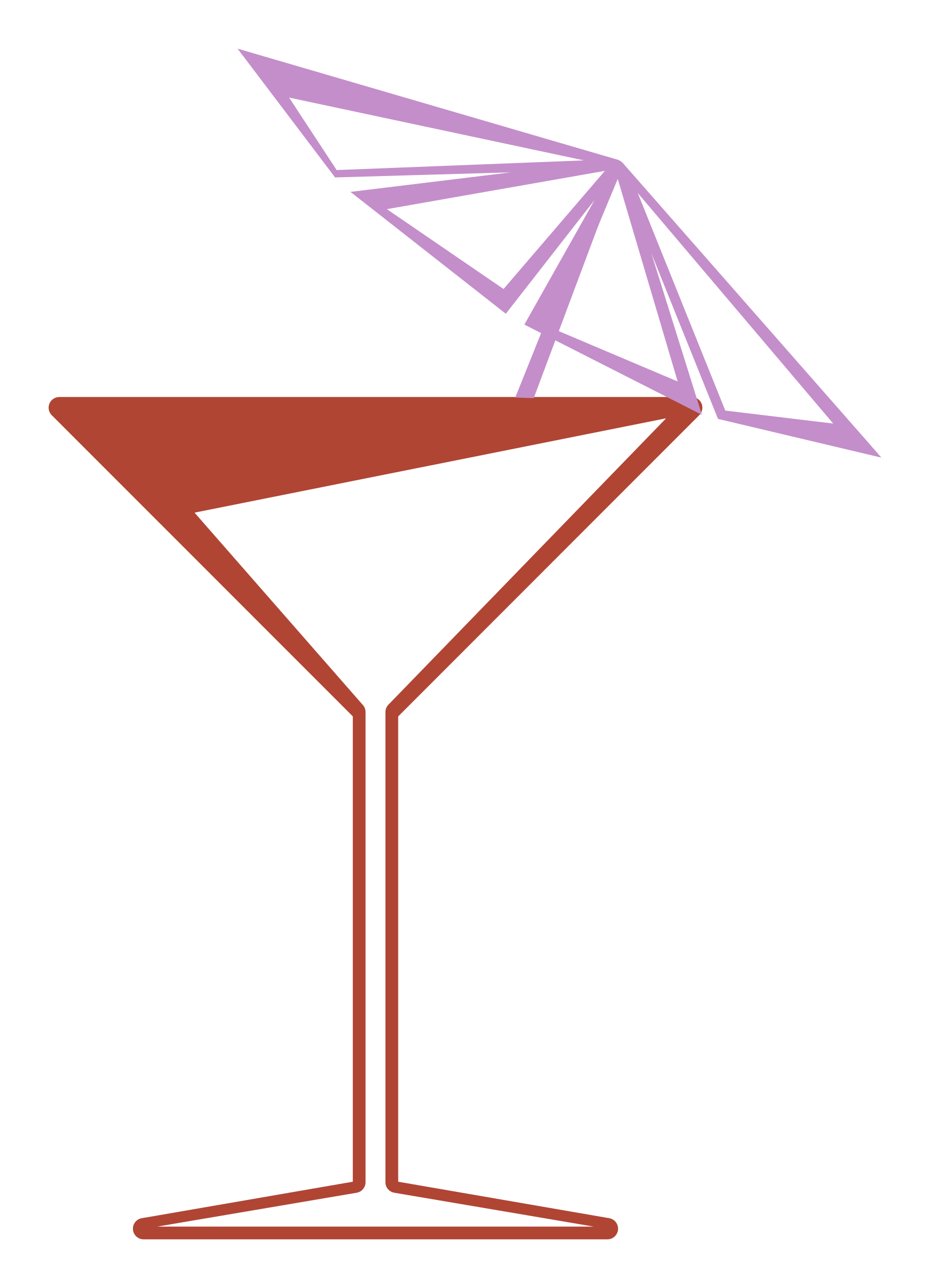 Martini glass by Basurero