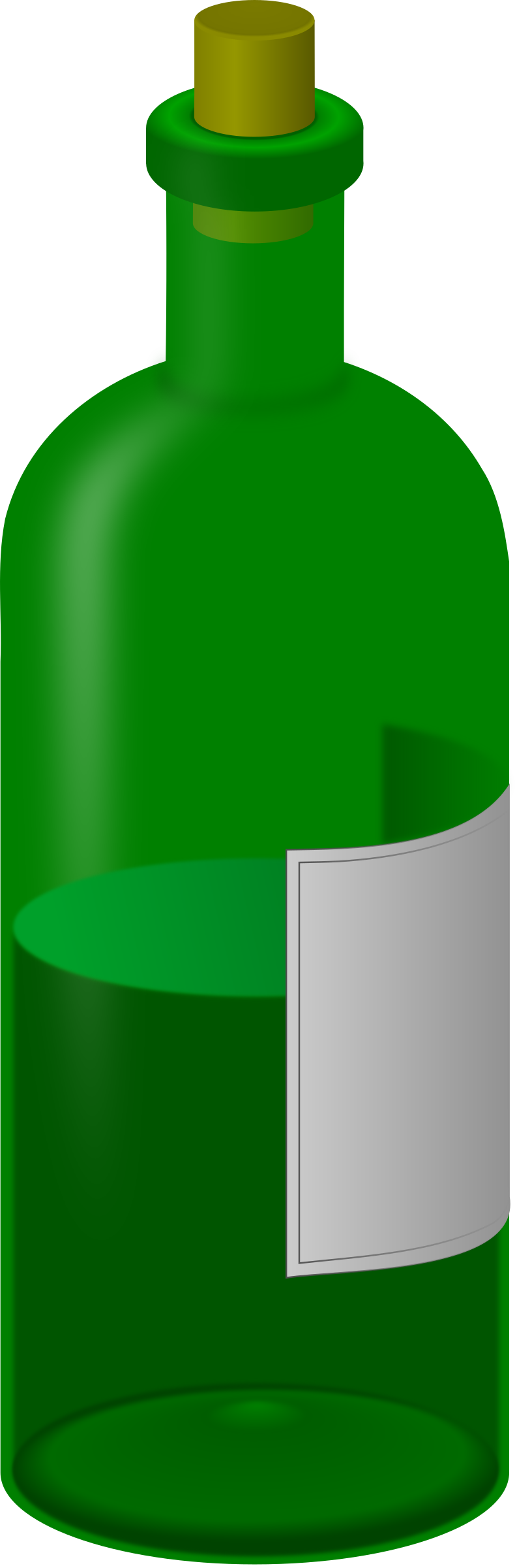 wine bottle with label by jarda