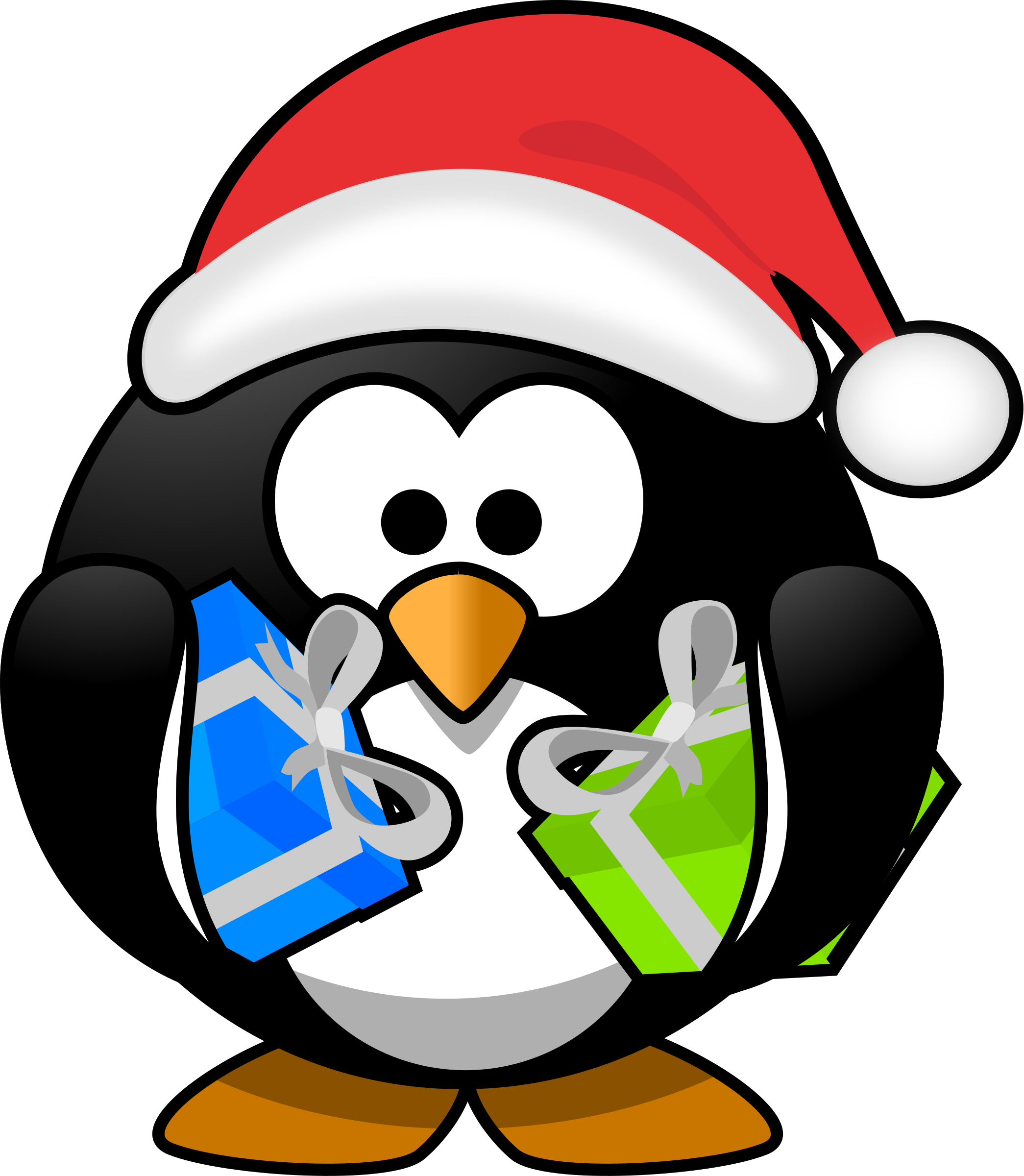 Santa penguin by Moini