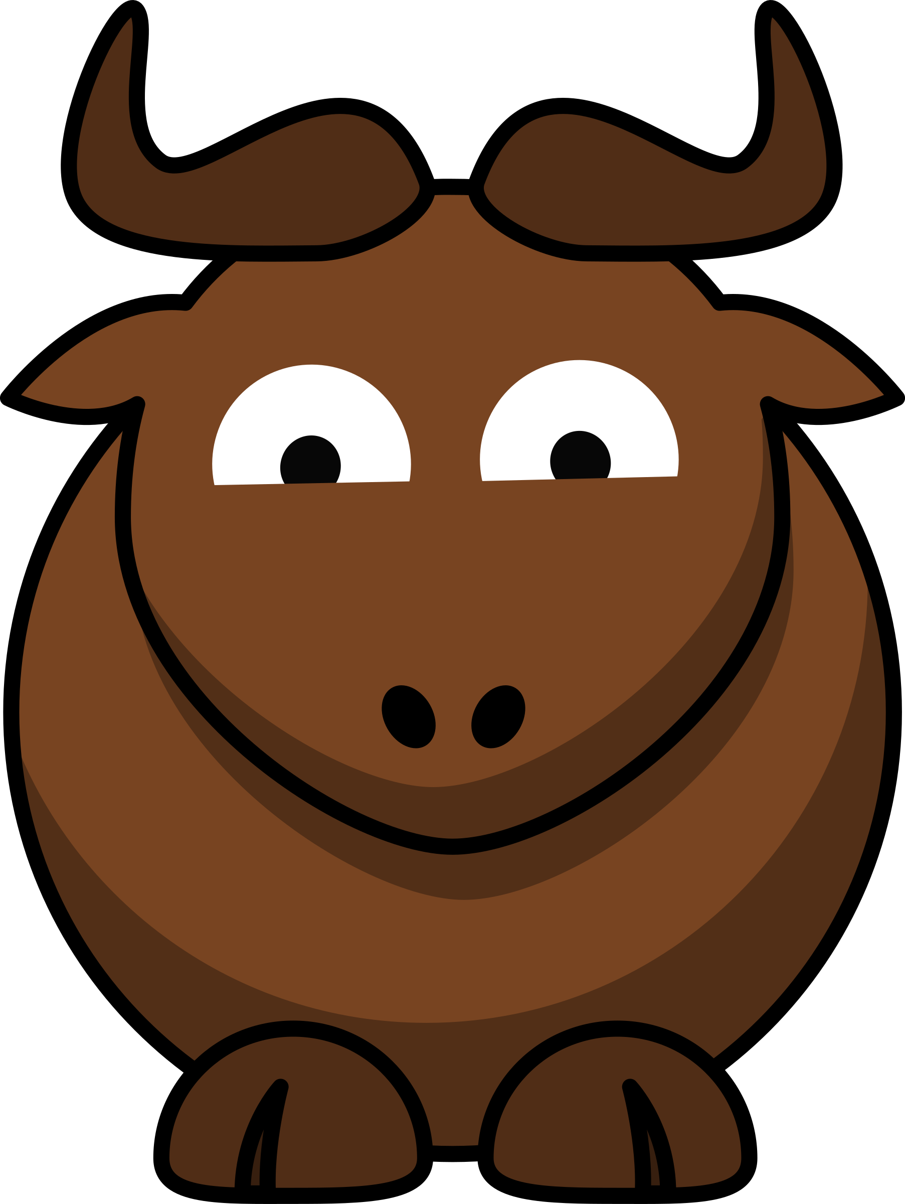 Cartoon Gnu Glee by ephemeralwaves
