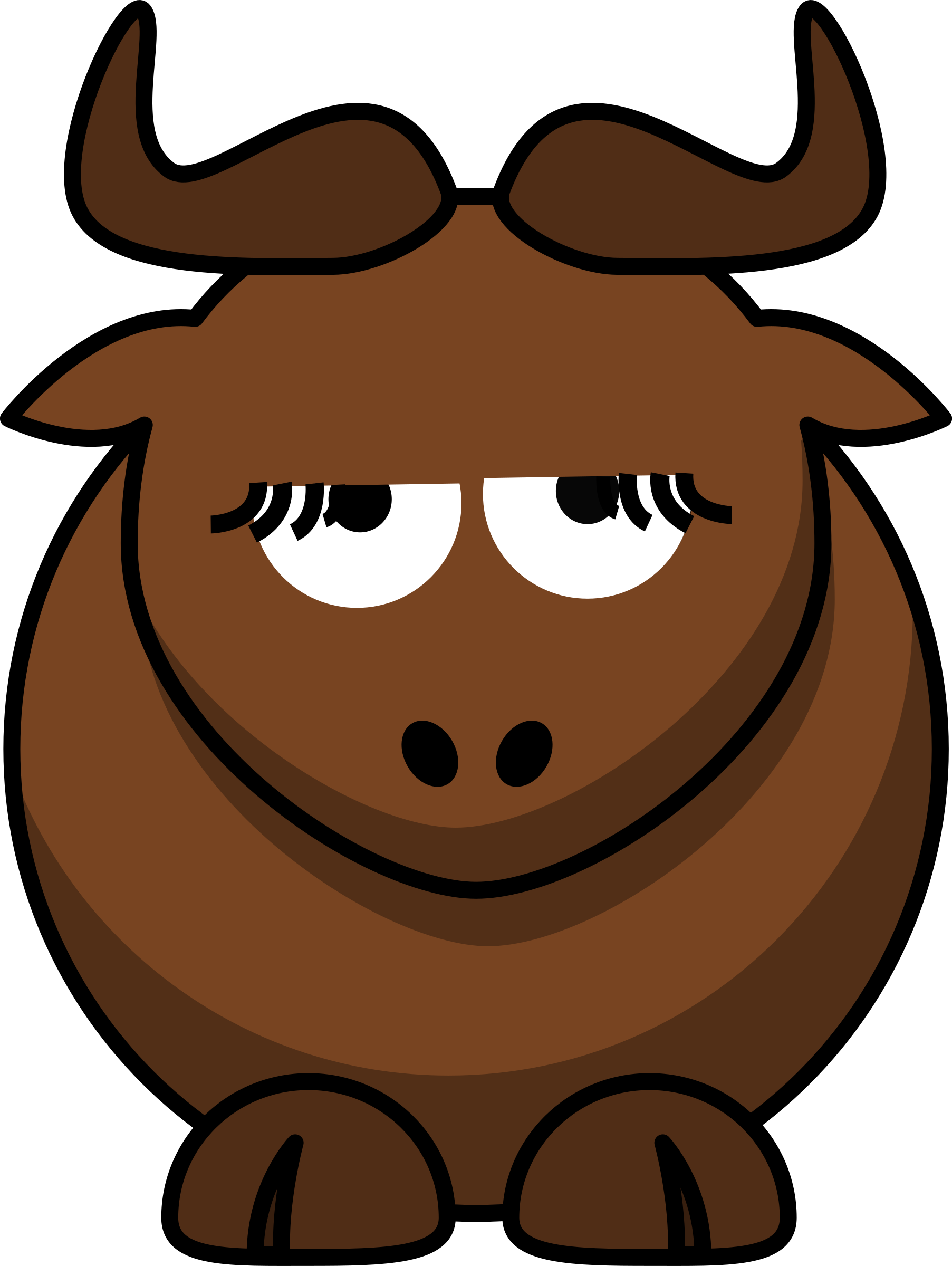 Cartoon Gnu is Disappoint by ephemeralwaves