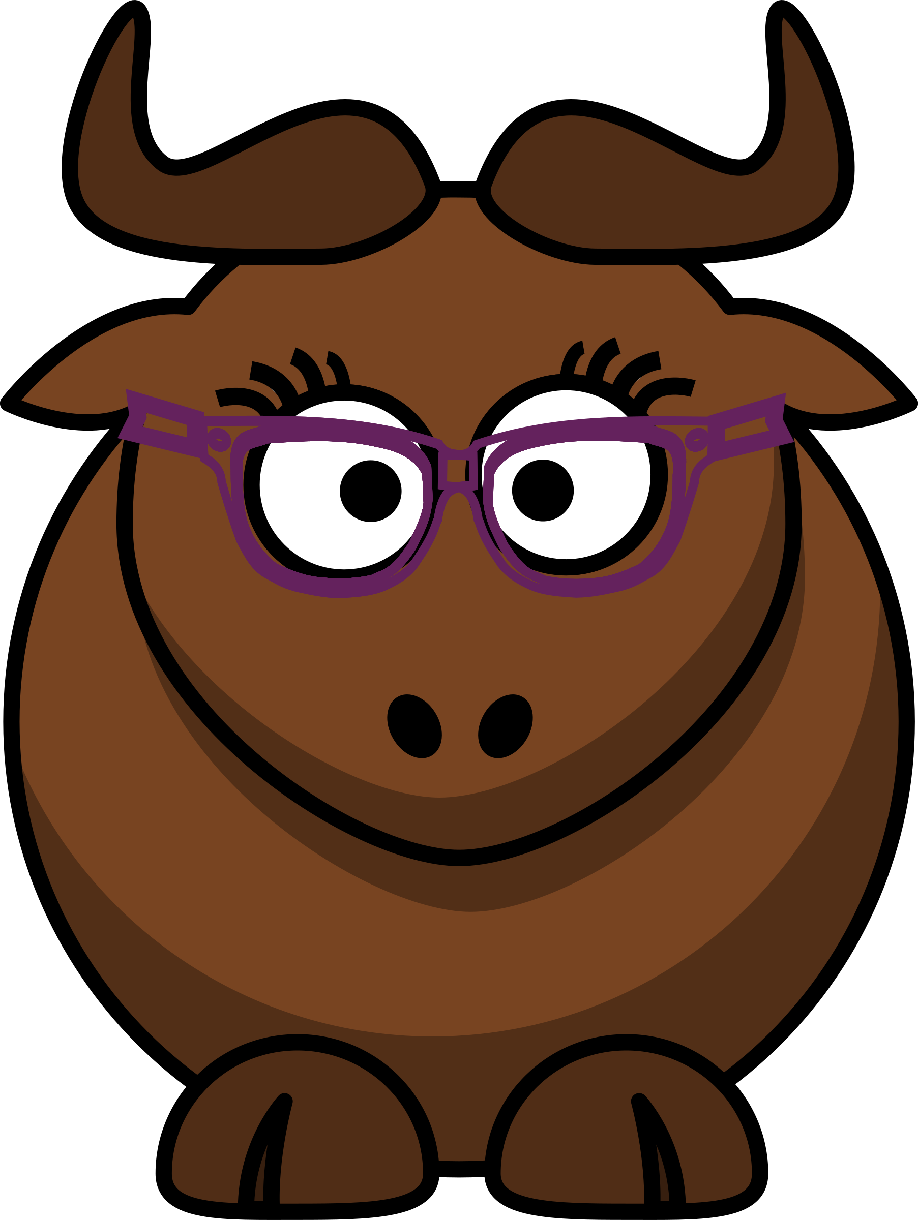 Cartoon Gnu Nerdy/Cute by ephemeralwaves