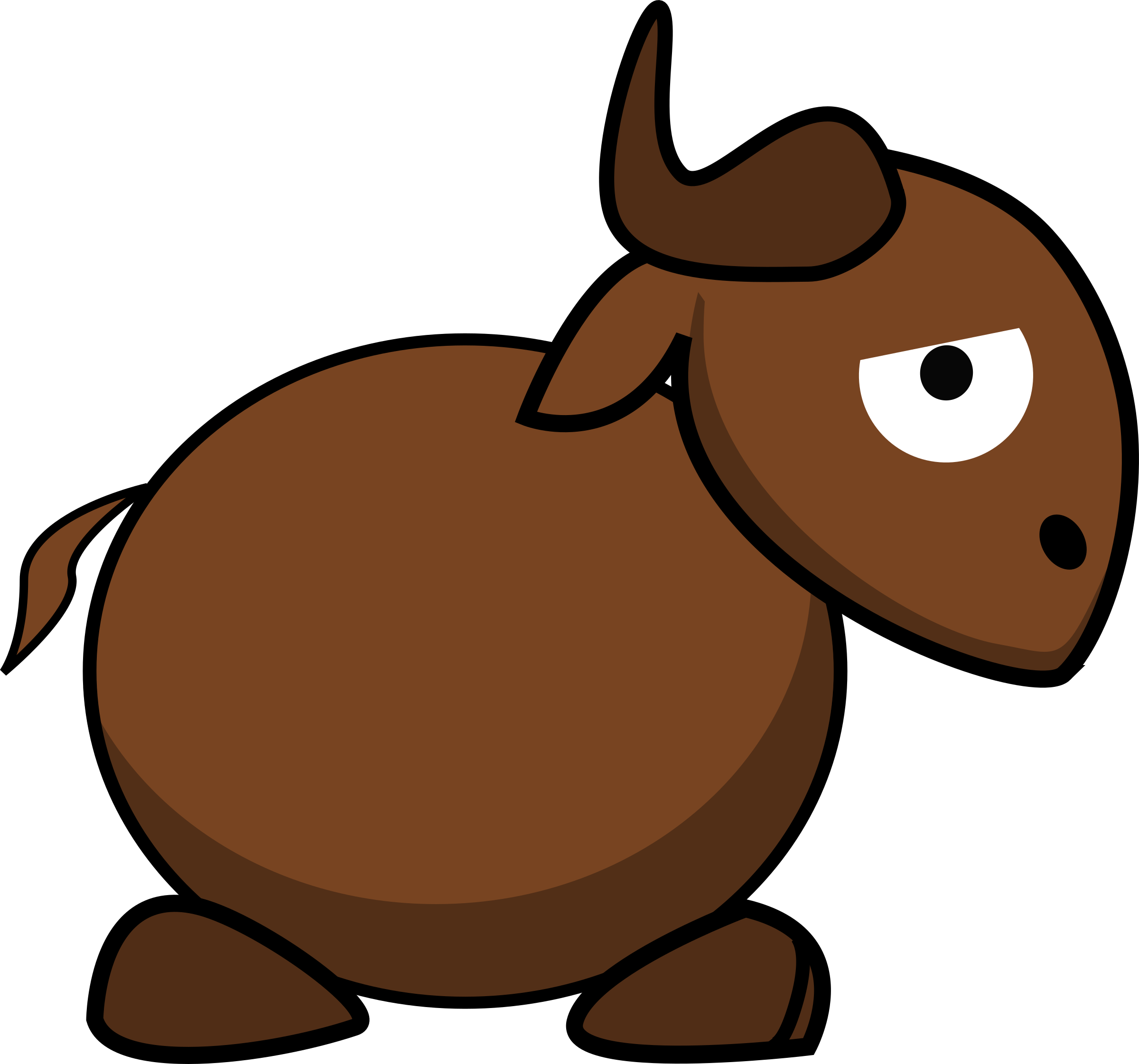 Cartoon Gnu Side by ephemeralwaves