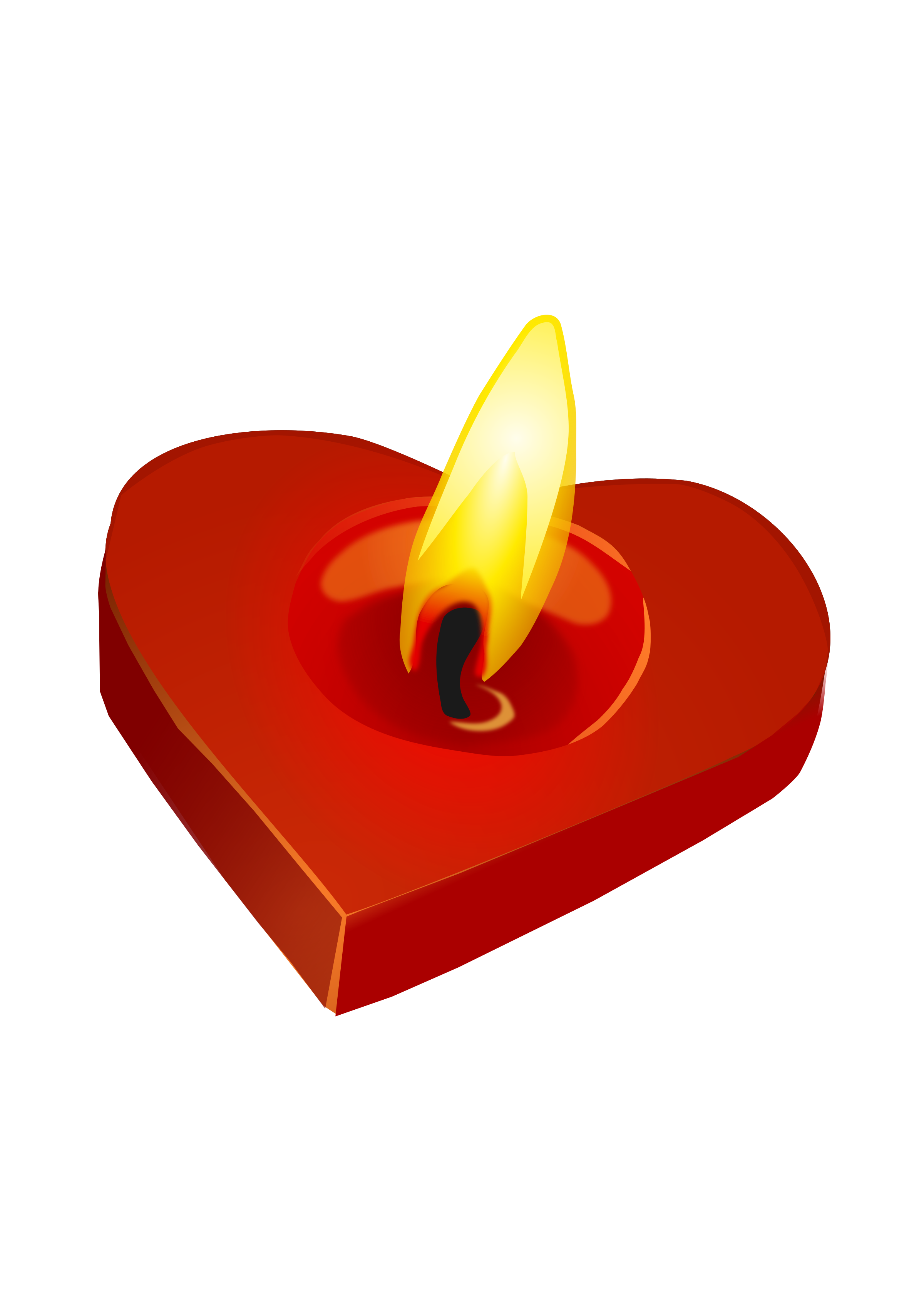 Valentine's Candle by amilo