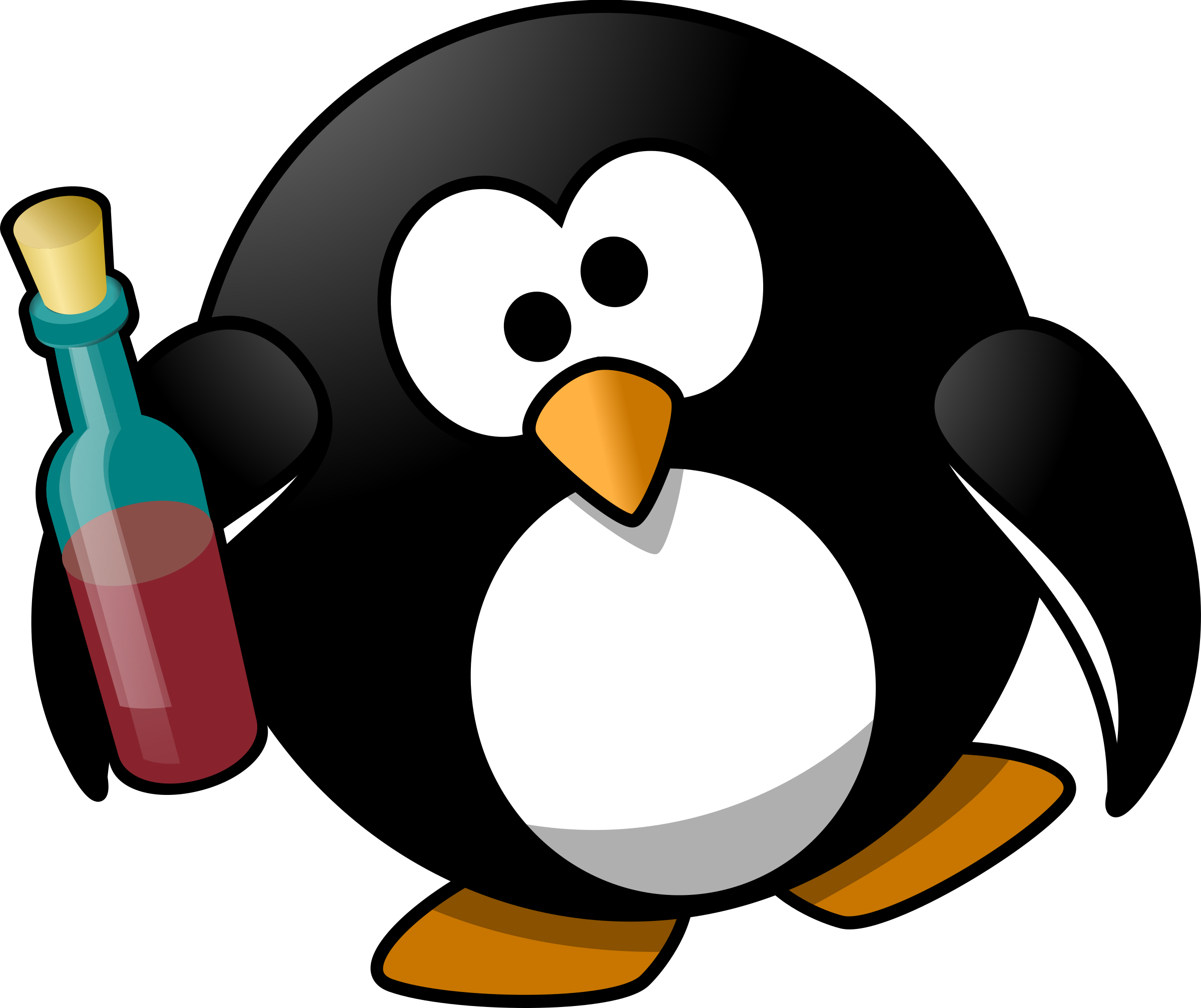 Drunk penguin by Moini