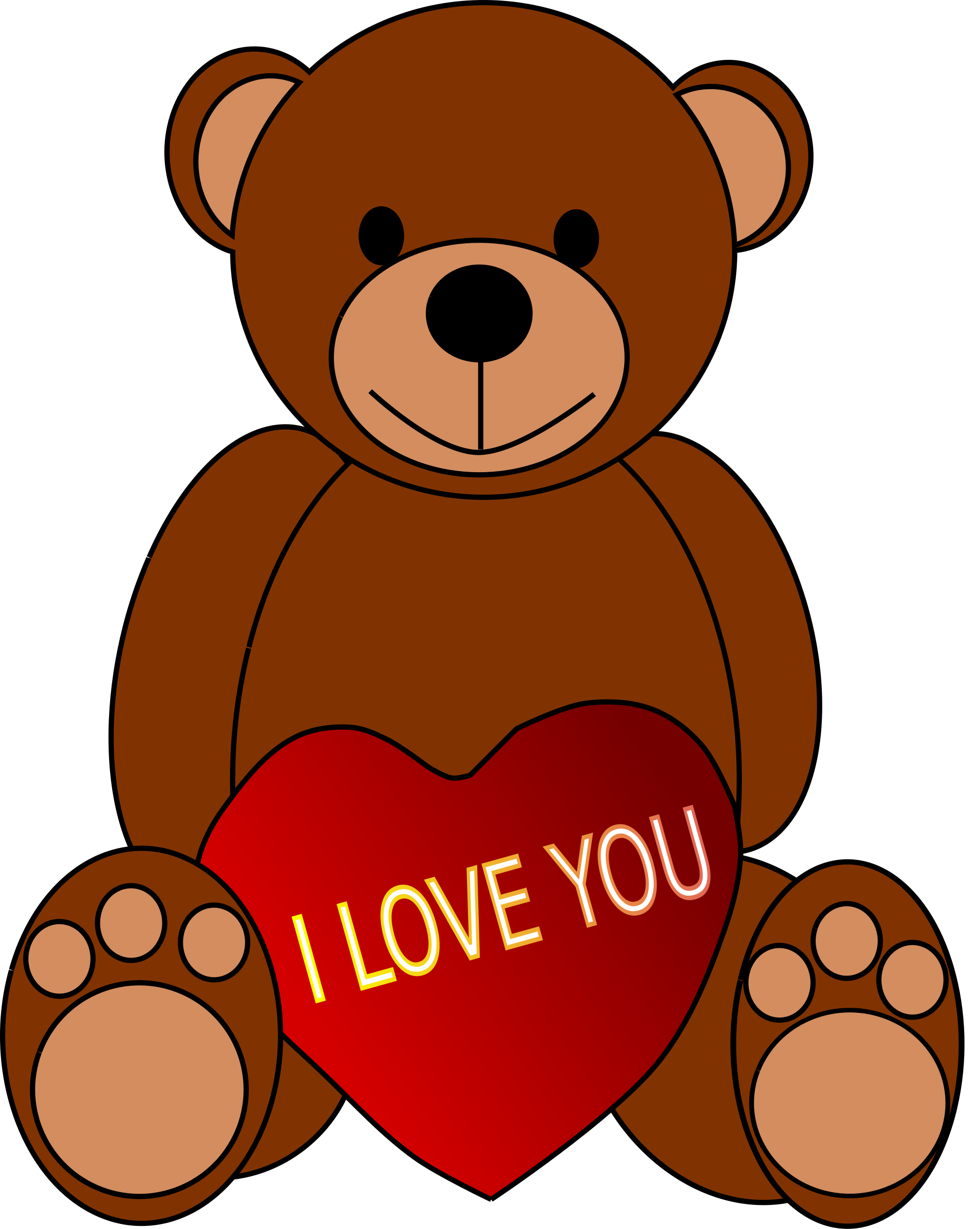 Valentine's Day Teddy Bear by artbejo