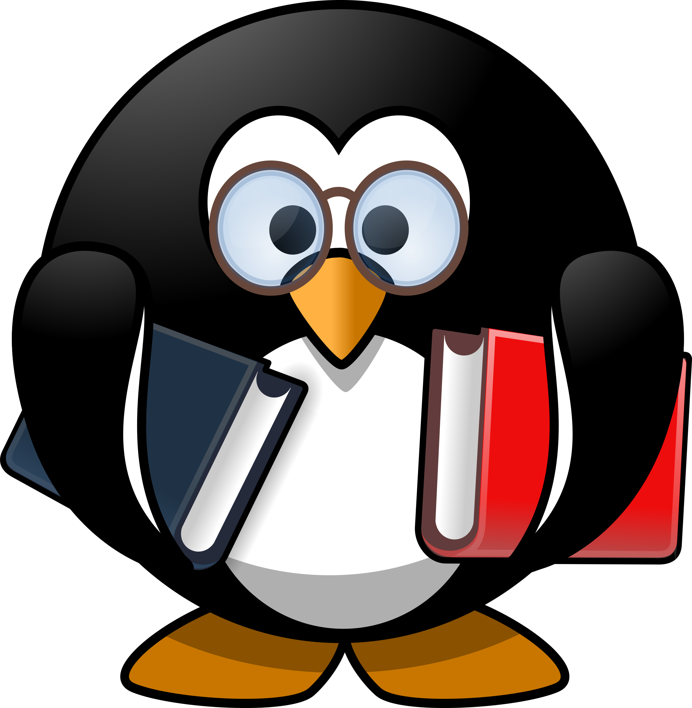 Bookworm penguin by Moini