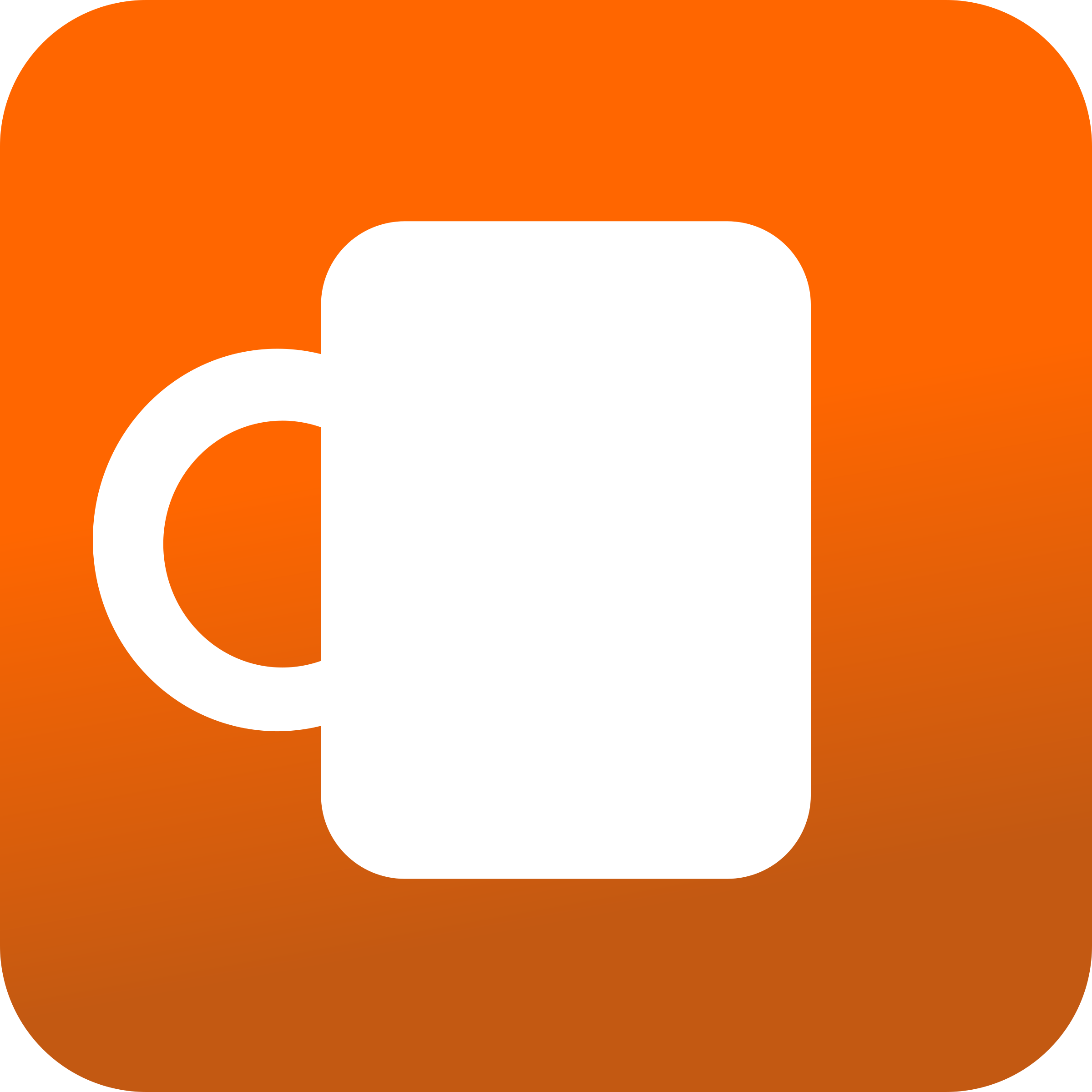 Coffee mug icon - Orange BAckground by angelascanio