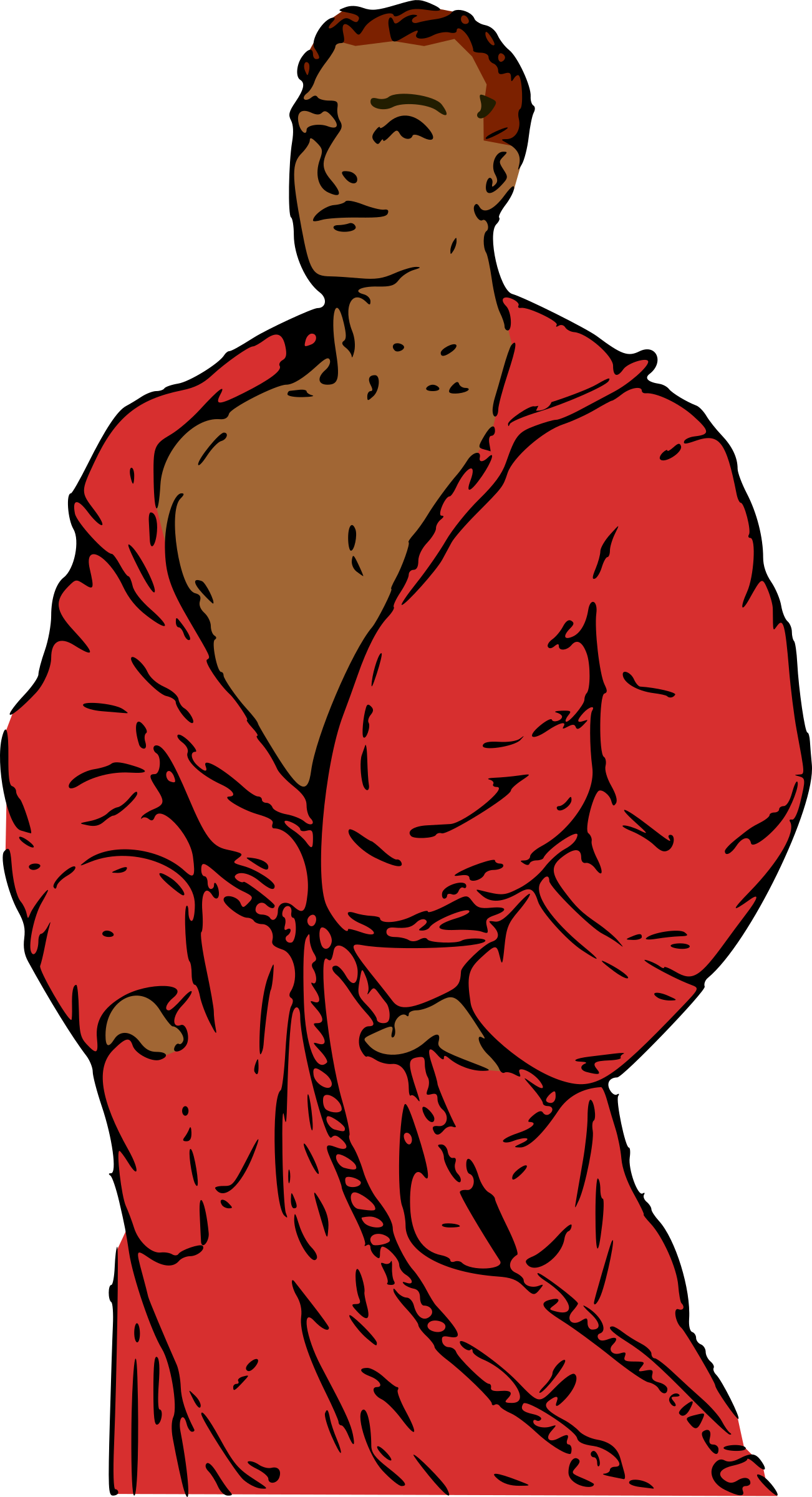 Man in Bathrobe 2 by qubodup