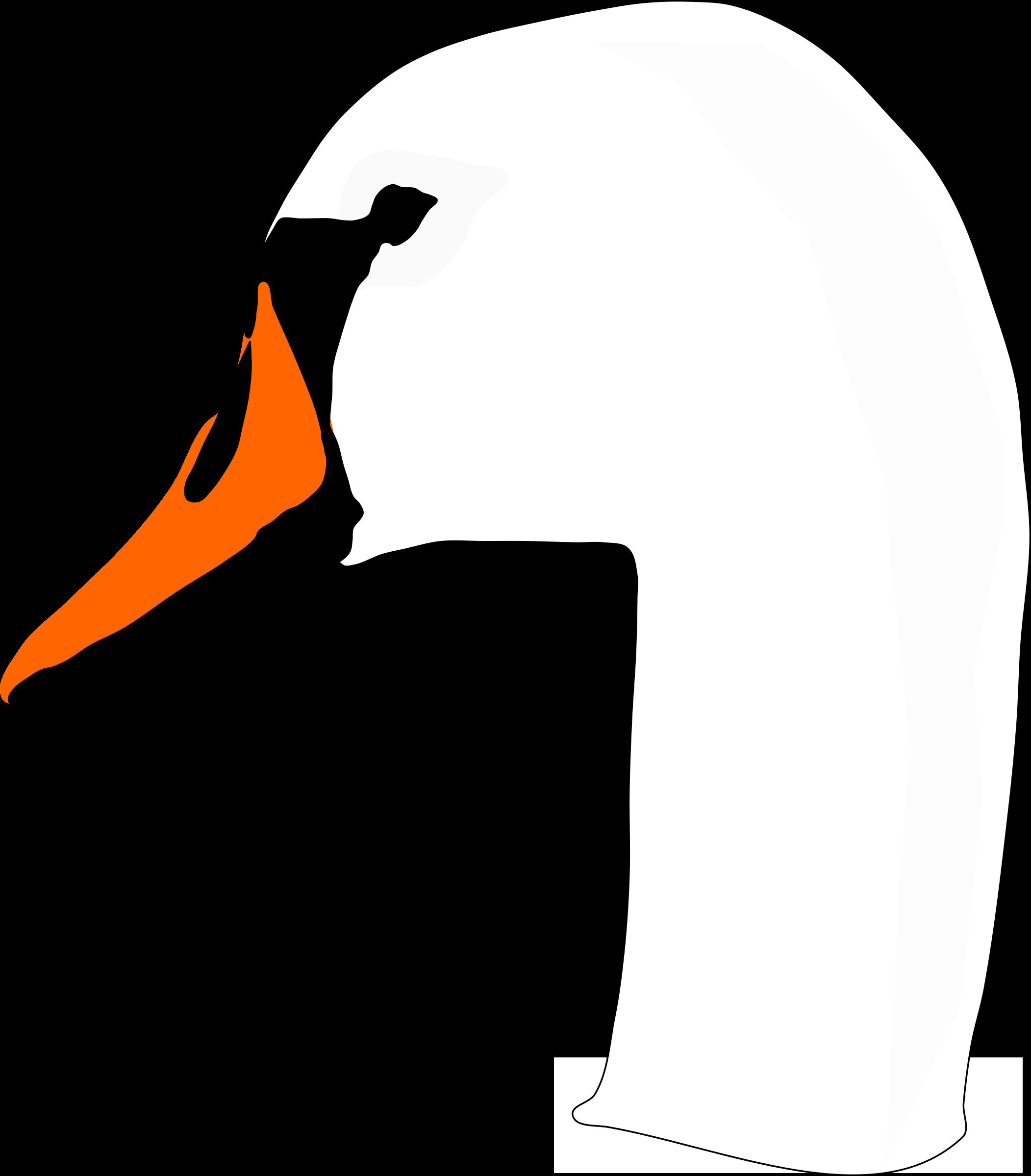 Как сделать шею лебедя из бумаги