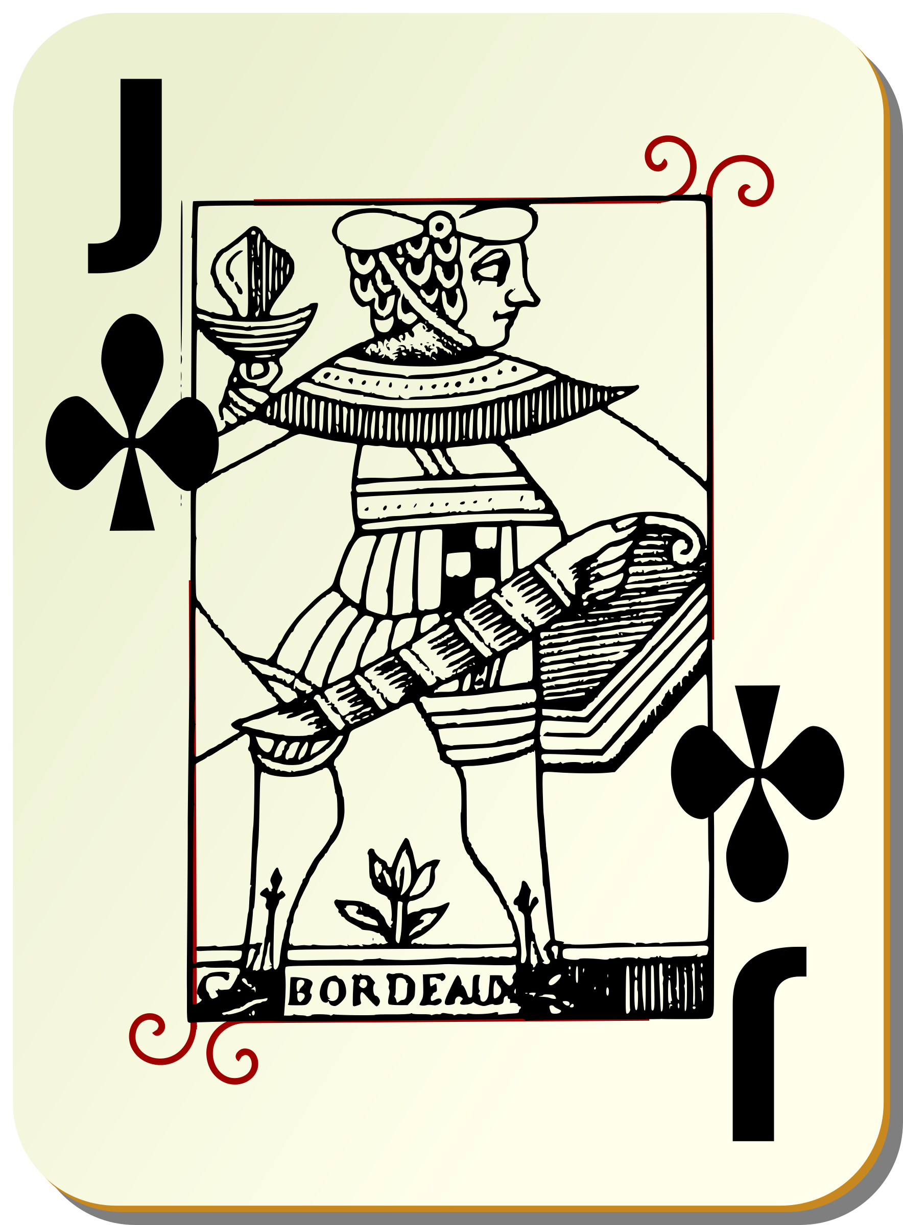 Guyenne deck: Jack of clubs by mariotomo