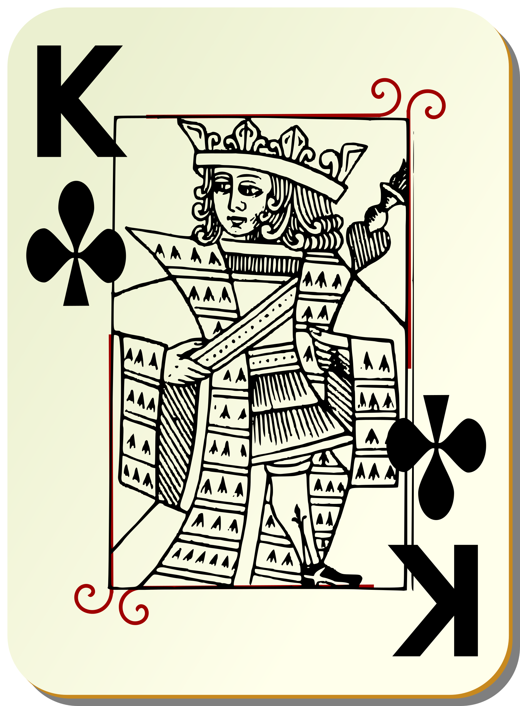 Guyenne deck: King of clubs by mariotomo