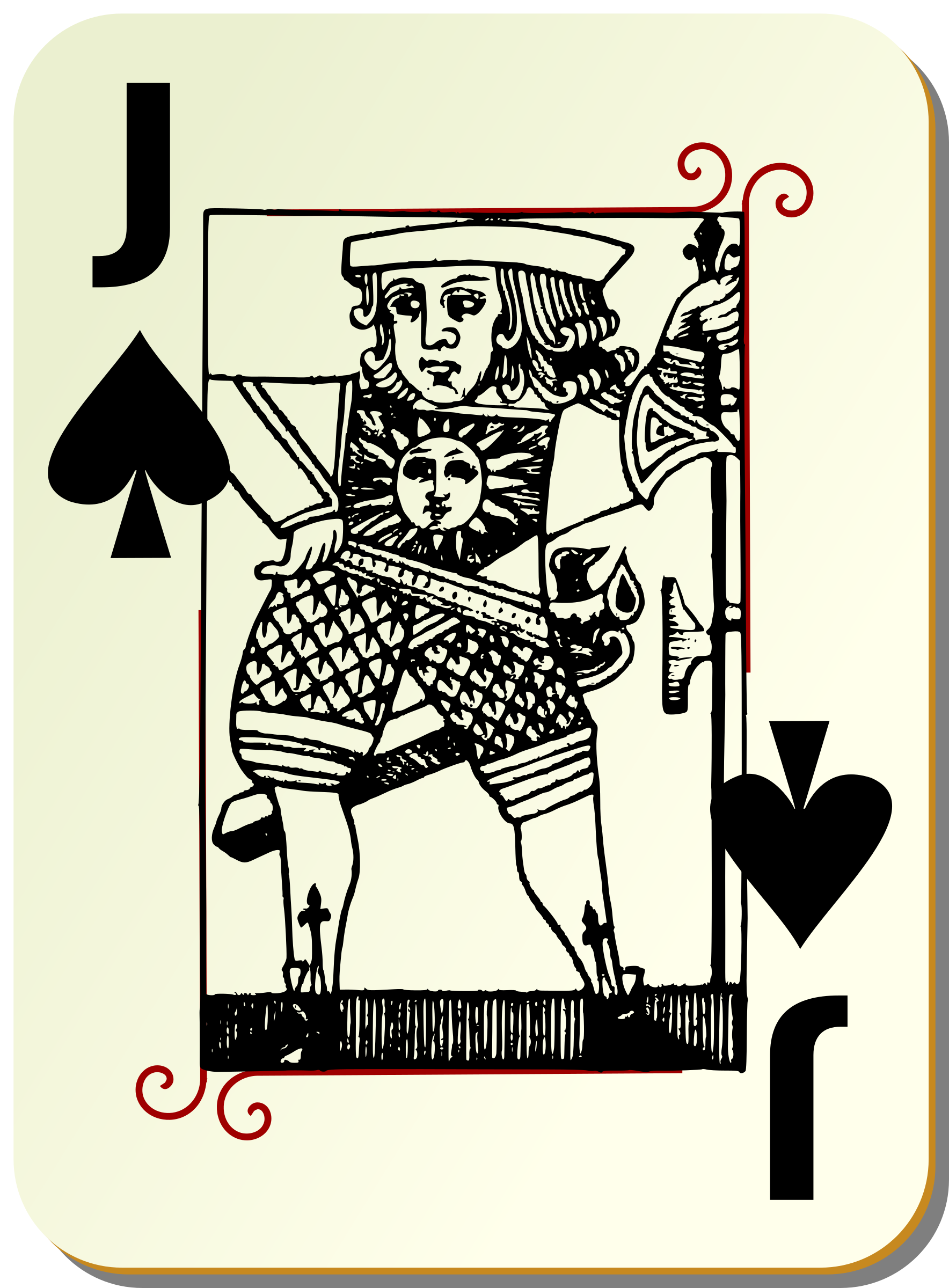 Guyenne deck: Jack of spades by mariotomo