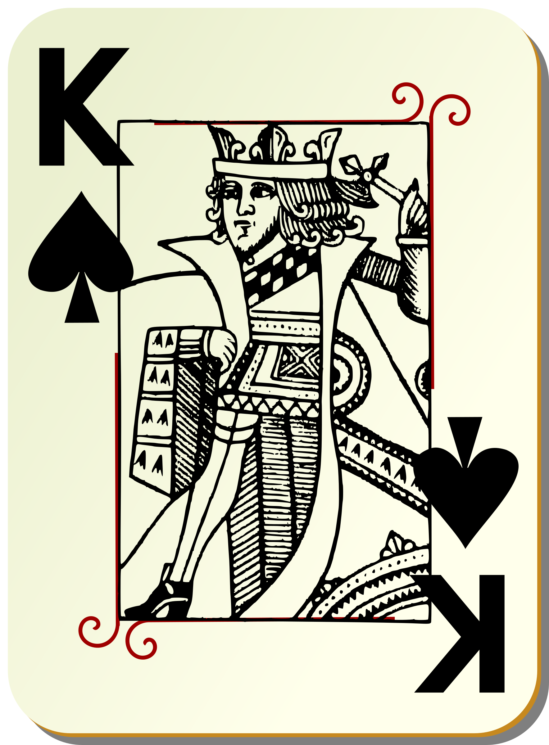 Guyenne deck: King of spades by mariotomo