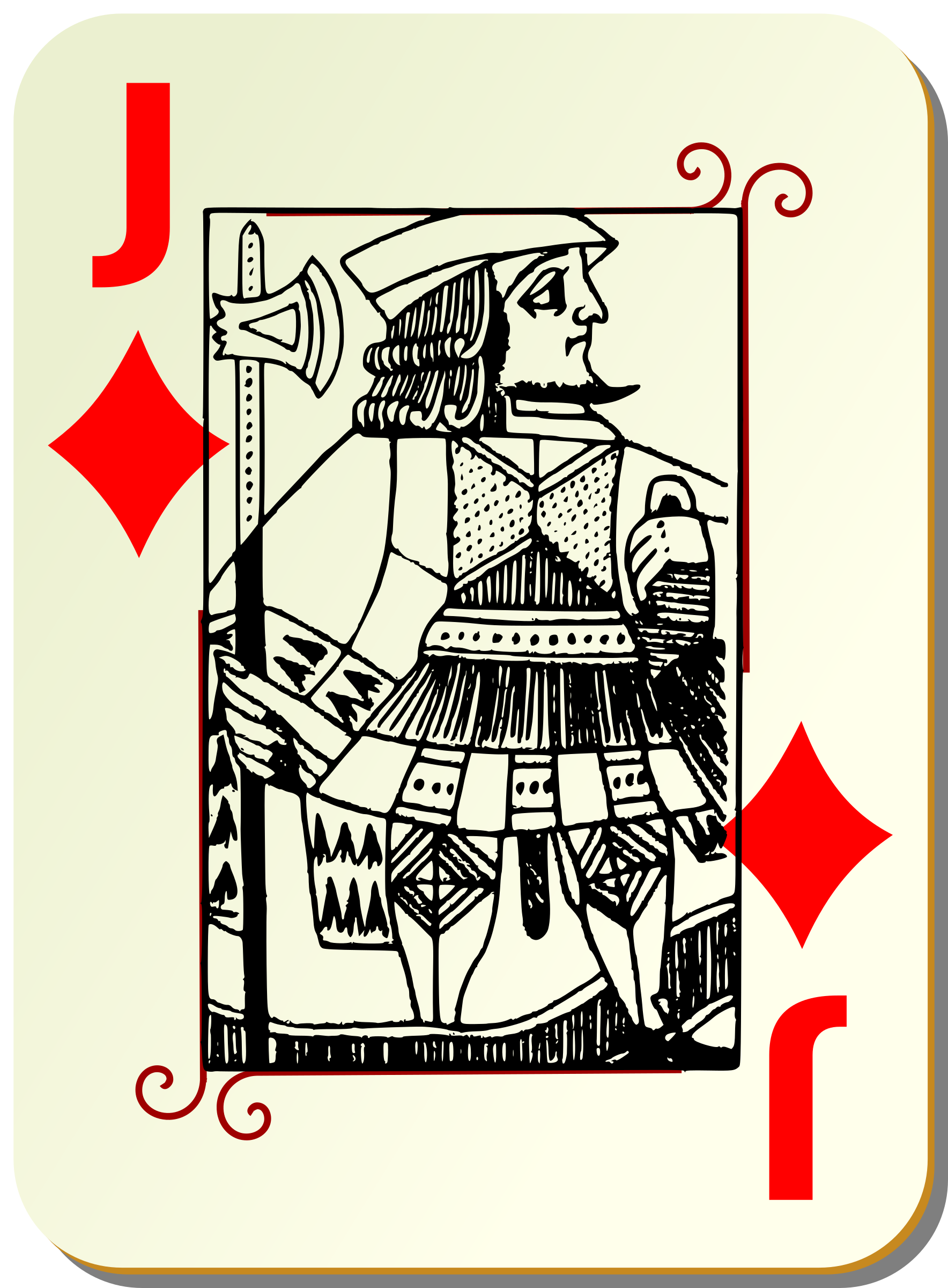 Guyenne deck: Jack of diamonds by mariotomo