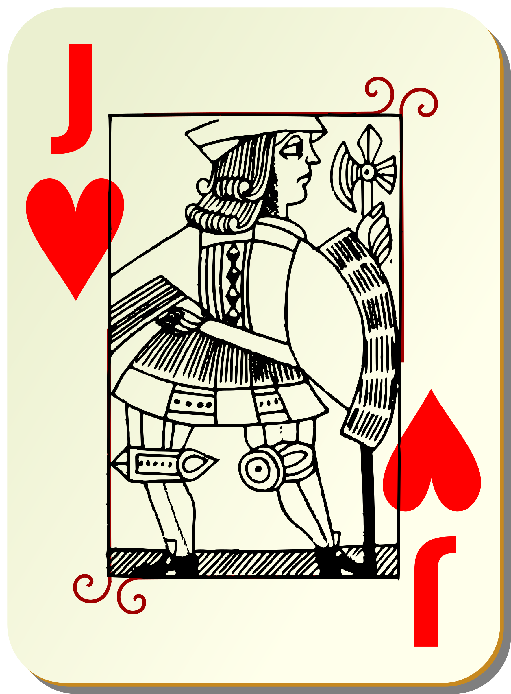 Guyenne deck: Jack of hearts by mariotomo