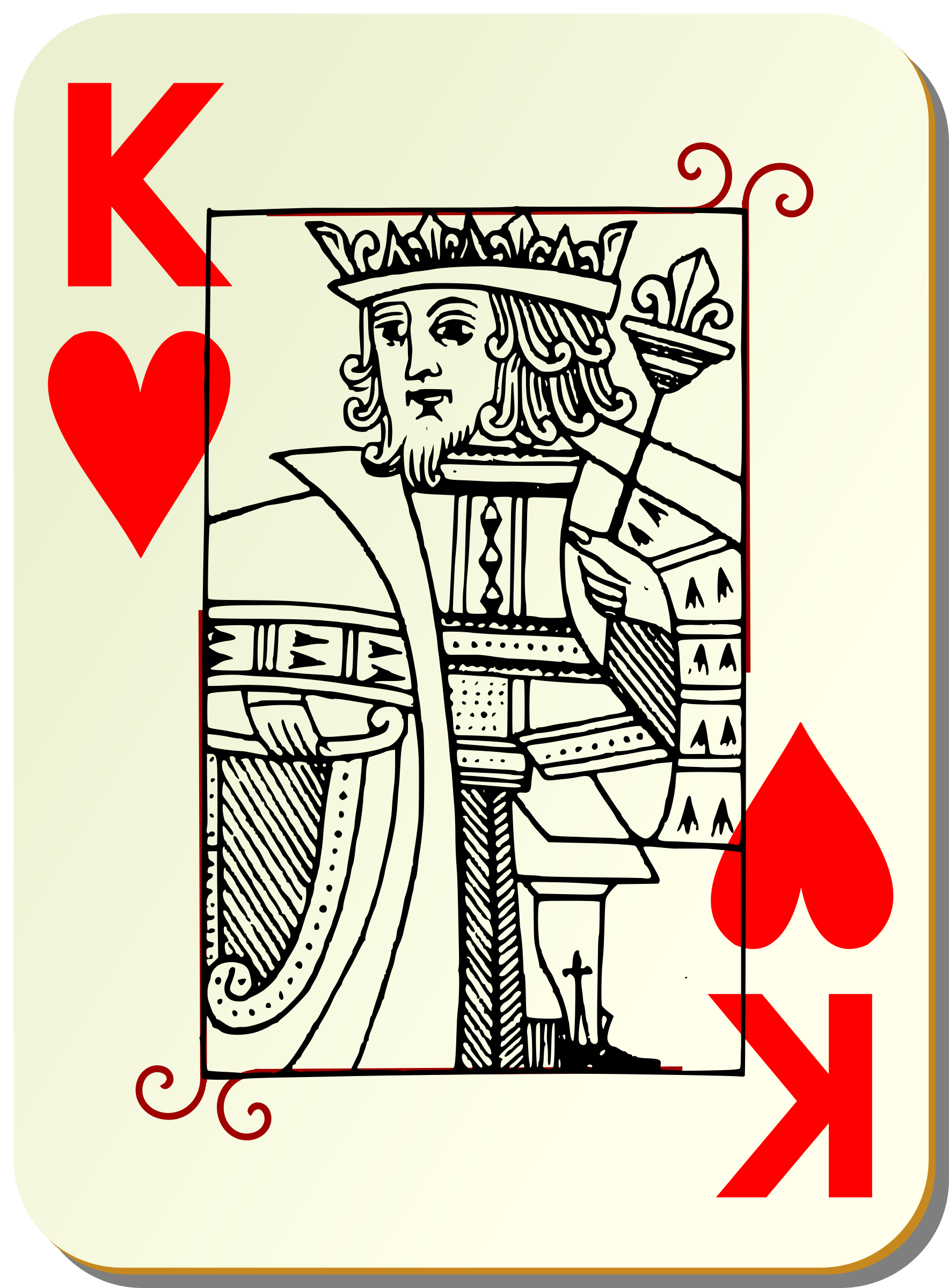 Guyenne deck: King of hearts by mariotomo