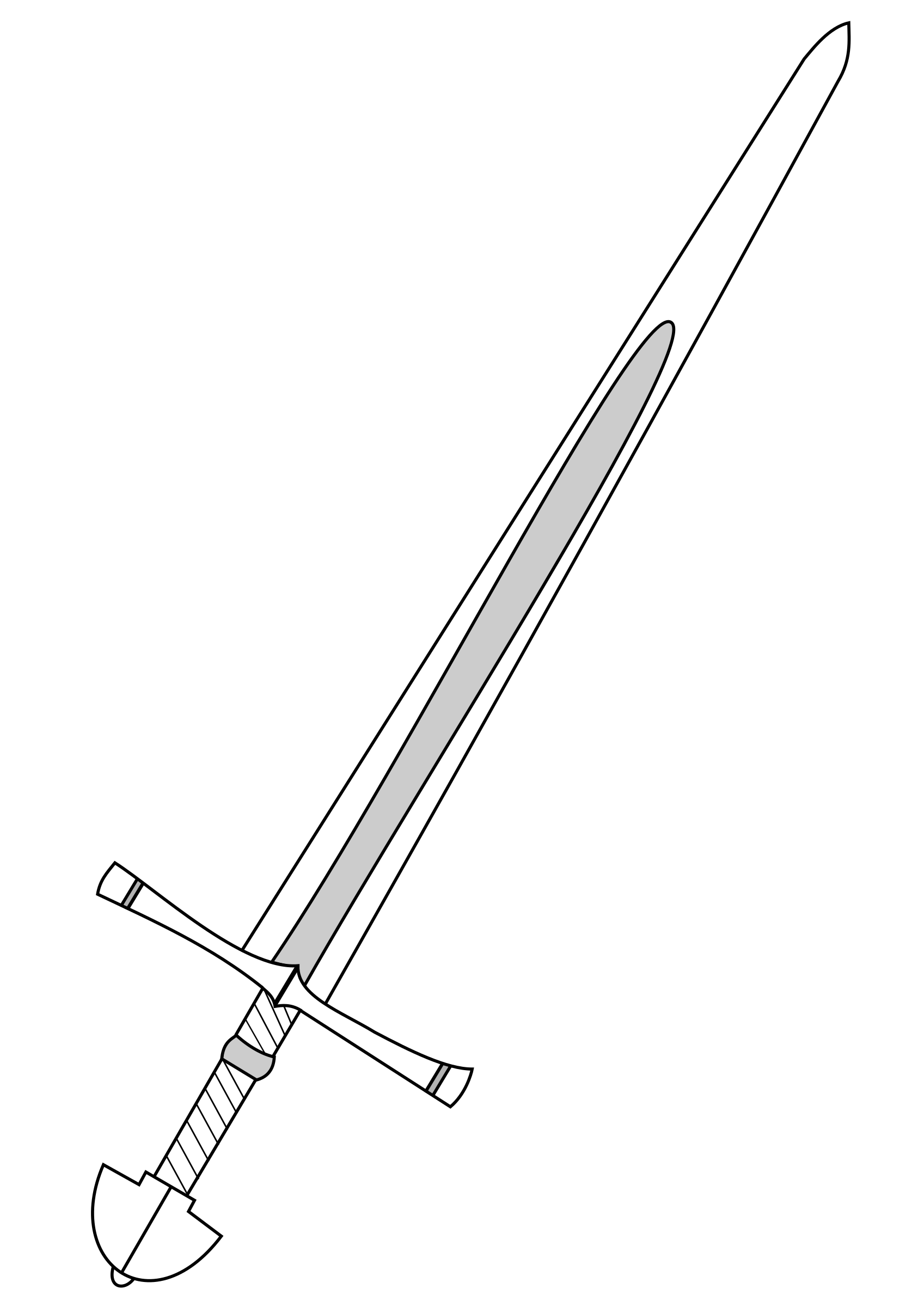trojan sword clipart outline - HD800×1131