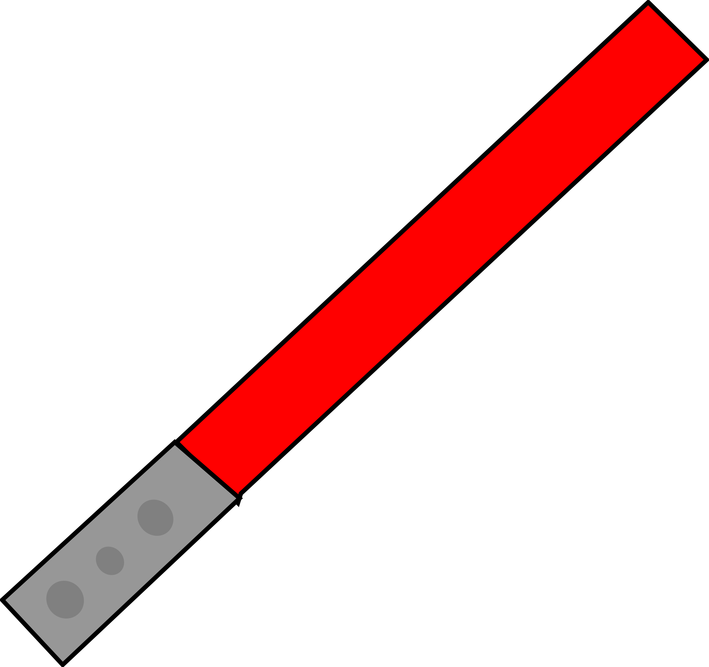 Red Light Saber by ninja246810