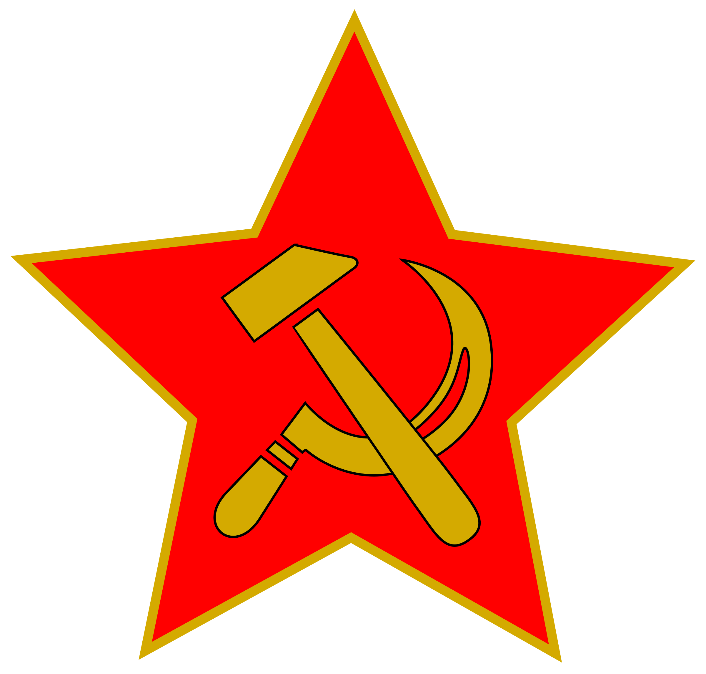Hammer and Sickle in Star by worker