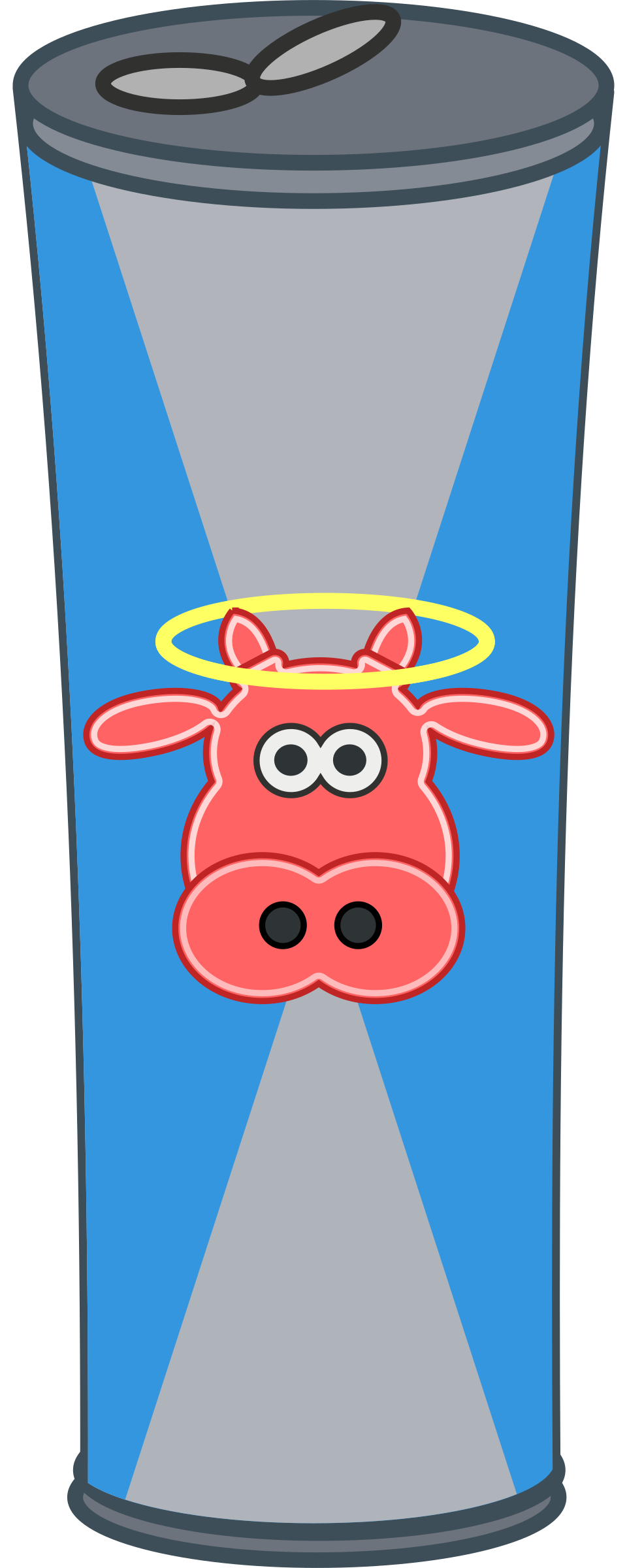 Simple Cartoon Energy Drink Can by qubodup