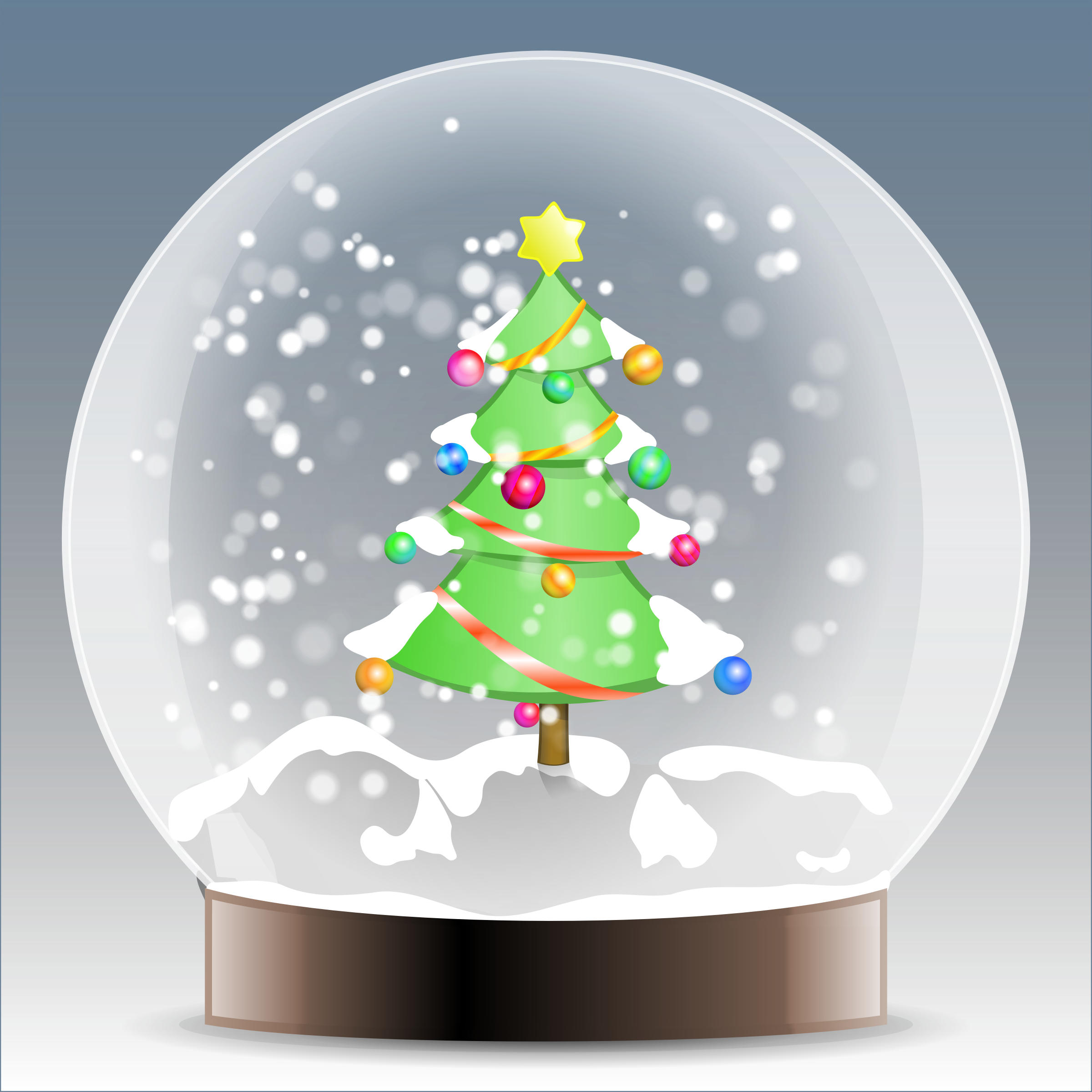 Christmas tree snow globe by BenBois