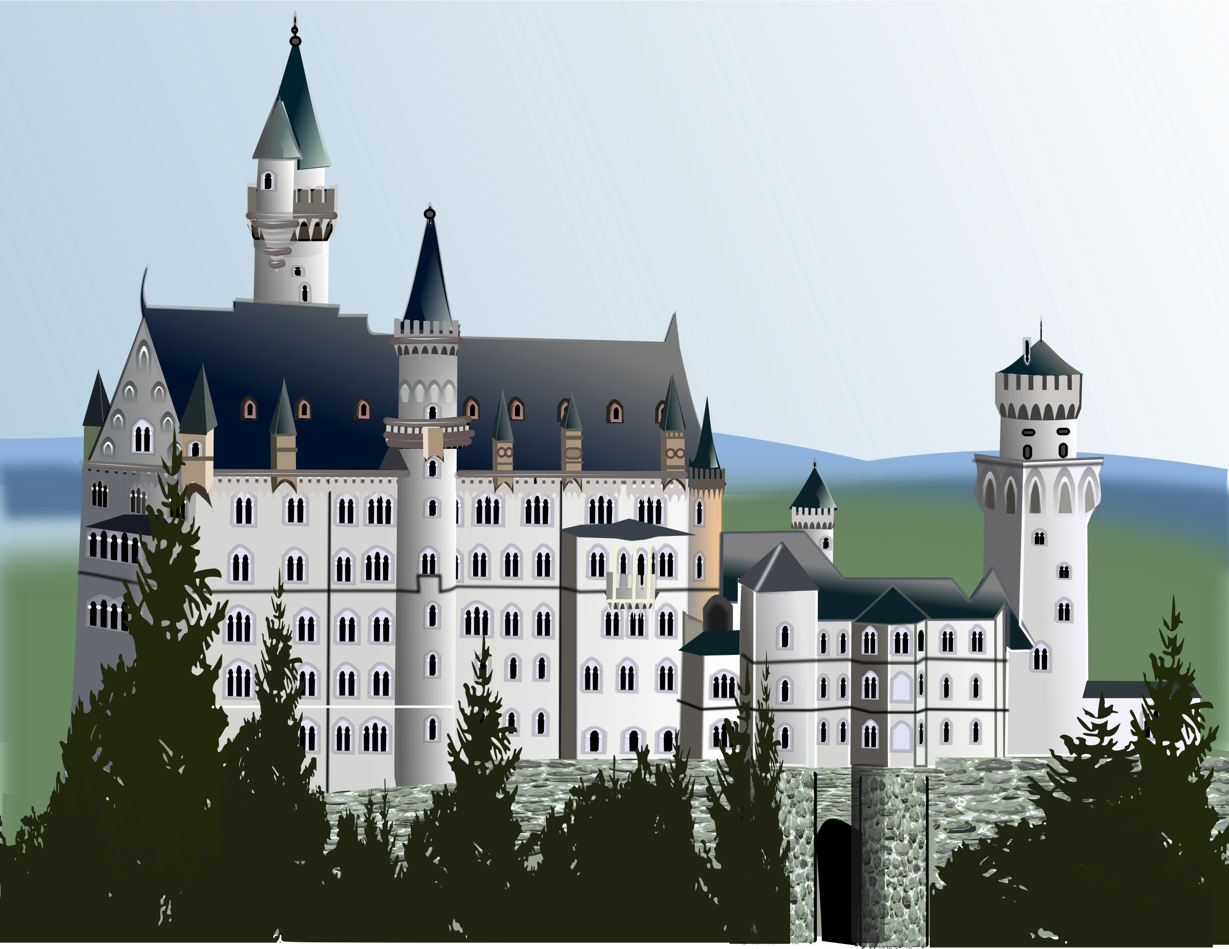 medieval castle, complete detail version by gurica