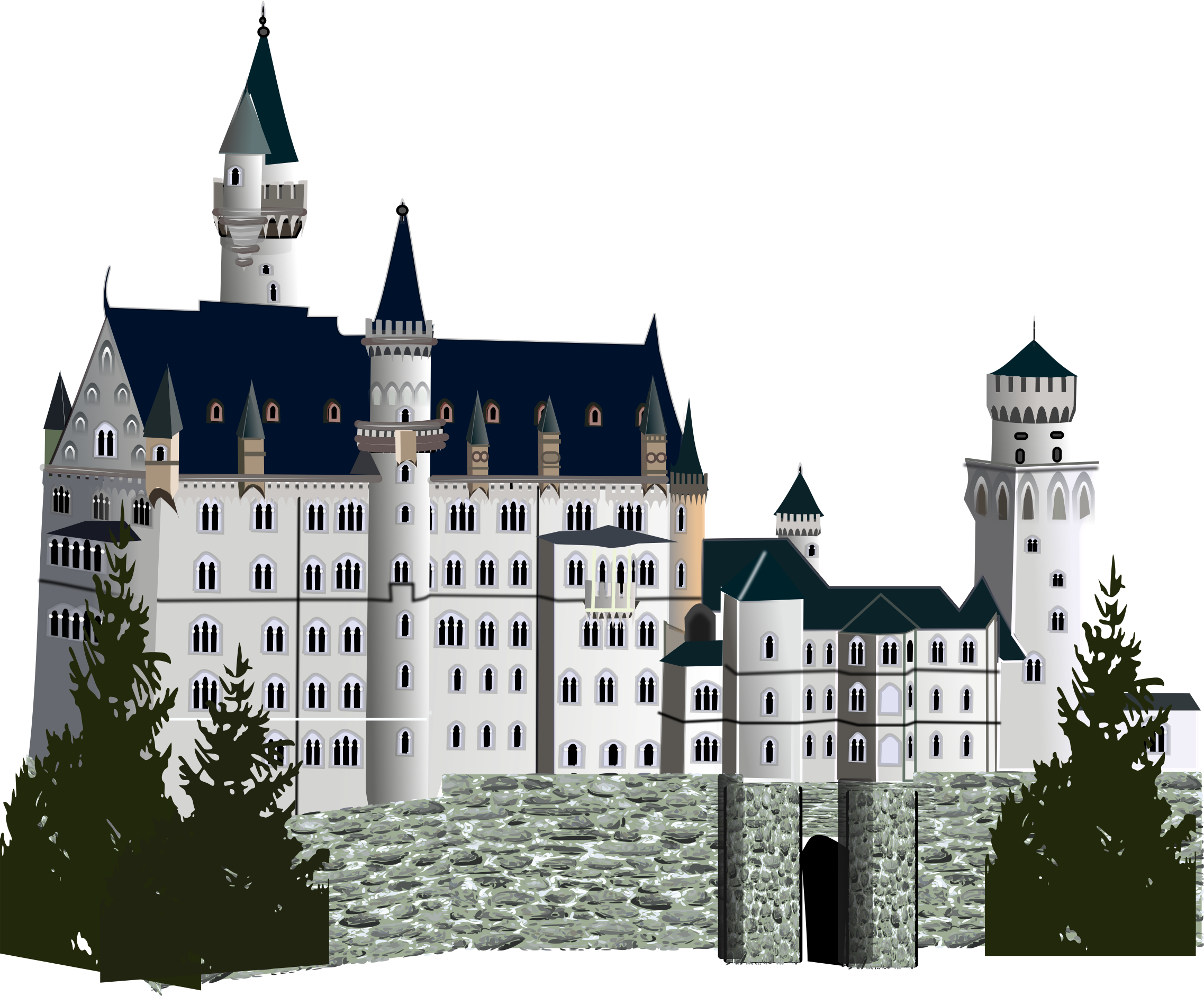 medieval castle, detailed version by gurica
