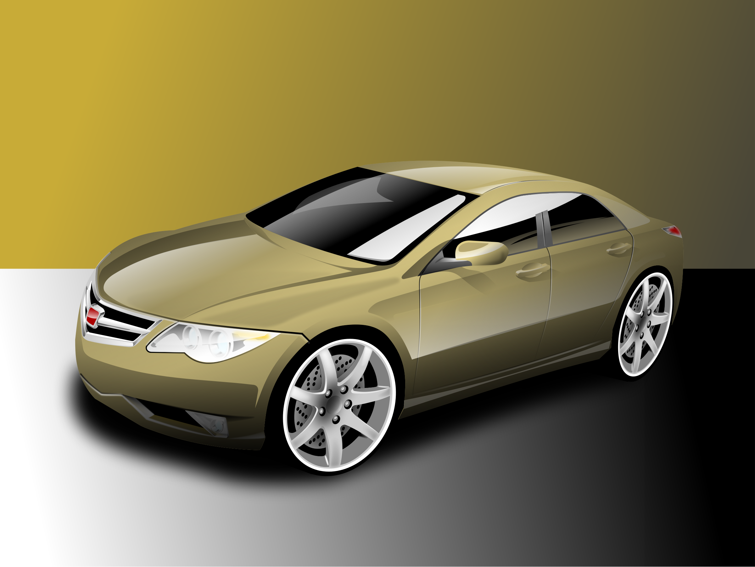 nice yellow car by hakim
