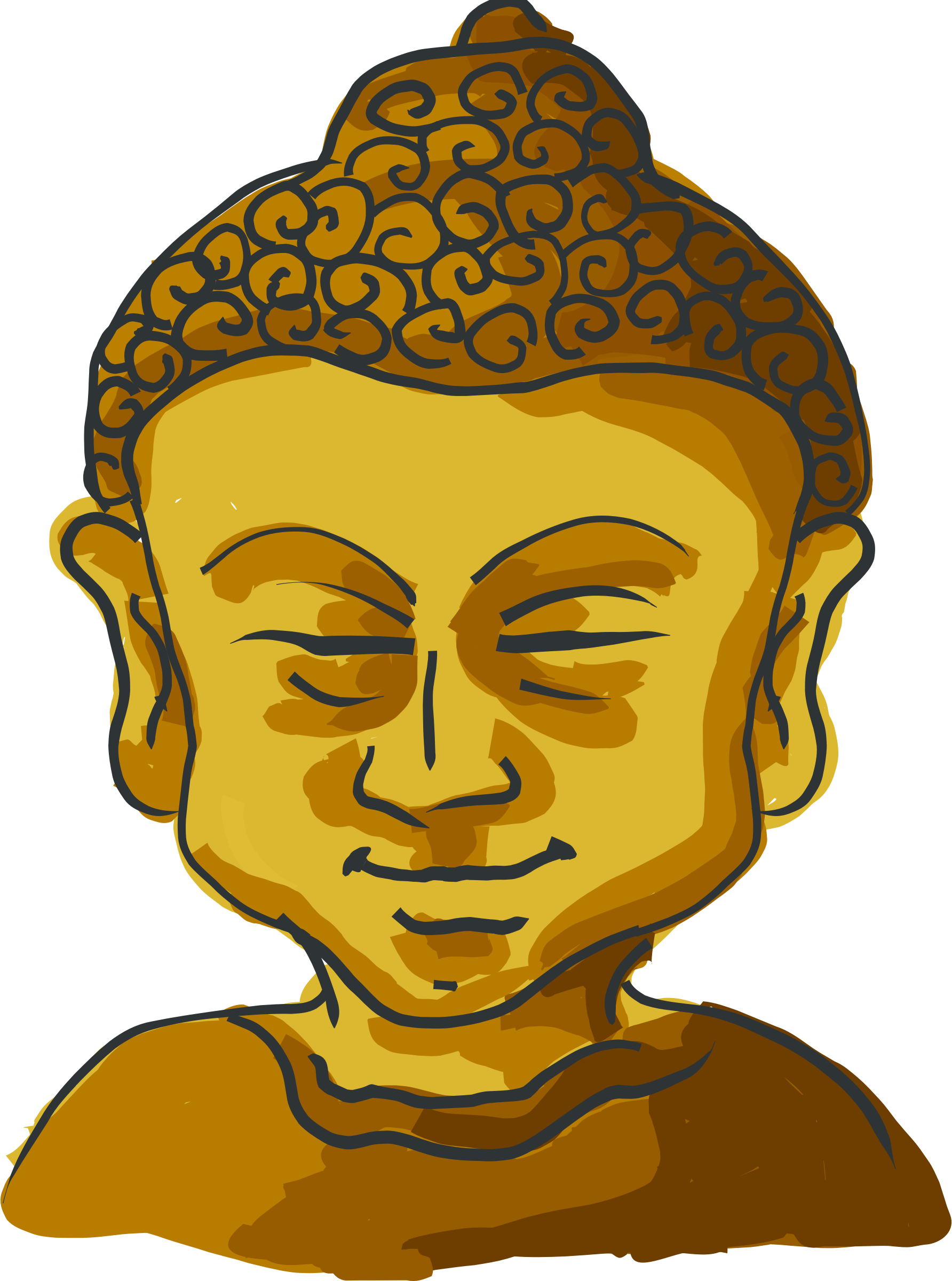 Buddha's head by mairin