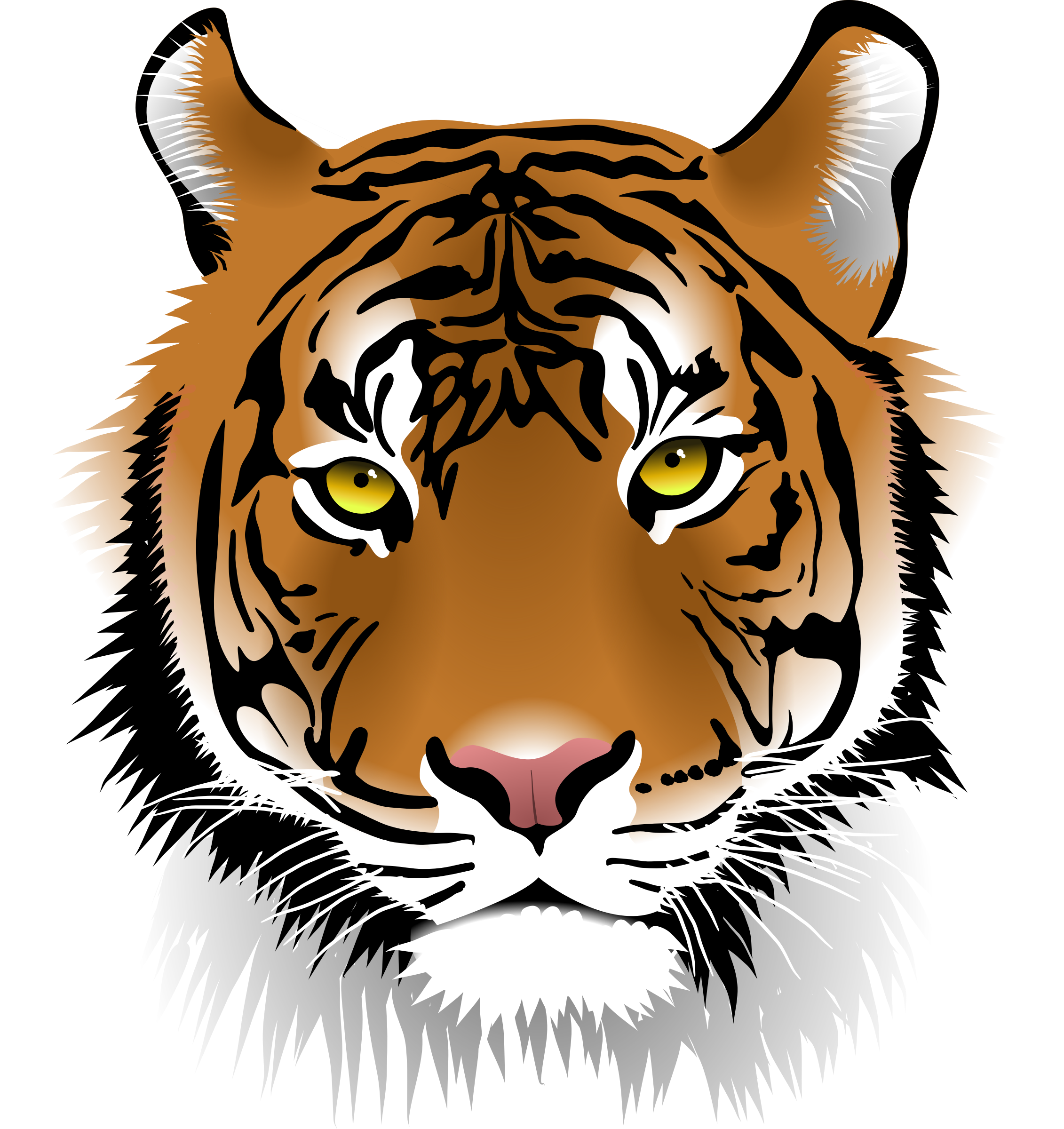 clipart tiger face rh openclipart org vector tiger face vector clipart of tiger face