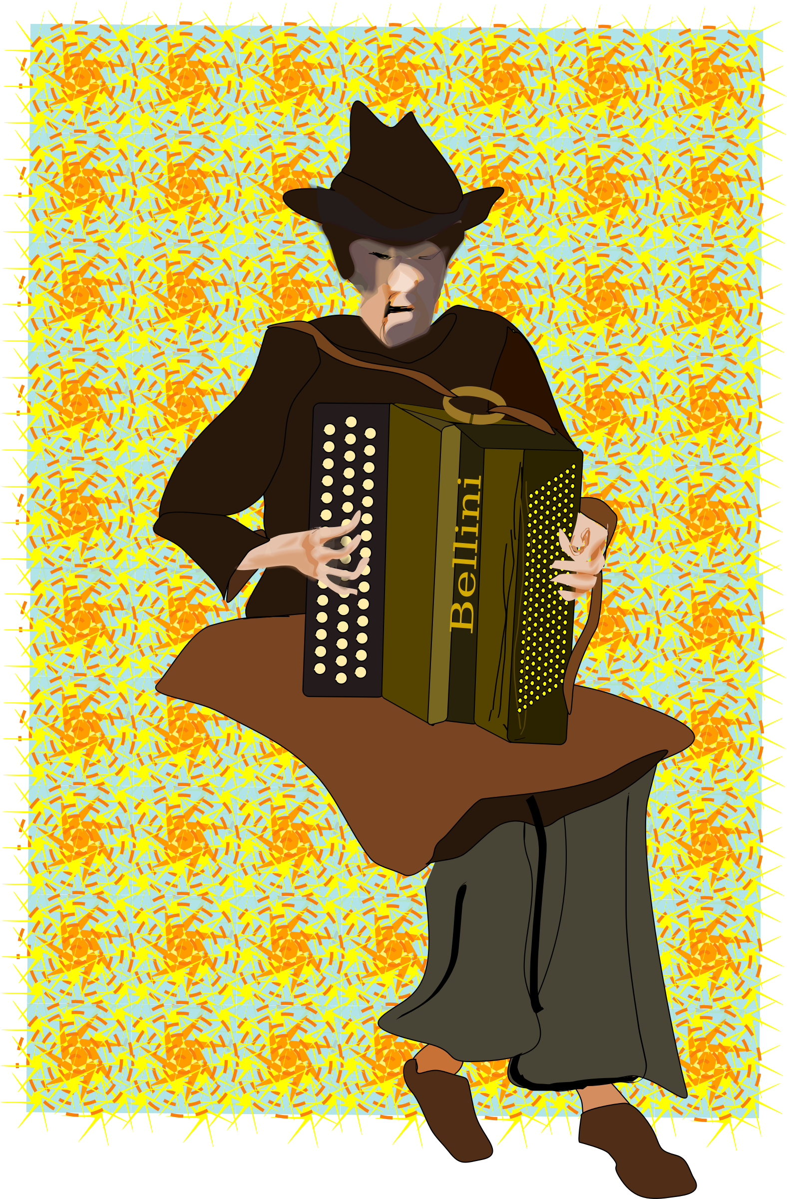 Accordion Player by Reedabadeeda