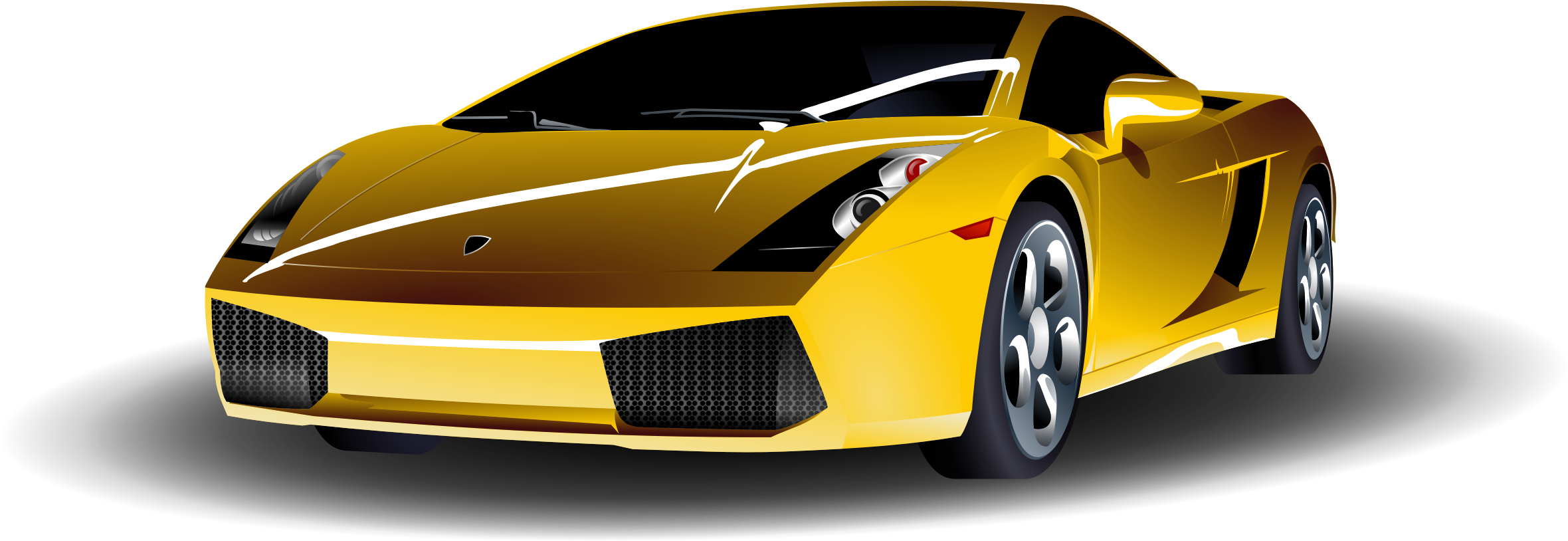 Yellow Sports Car by ryanlerch