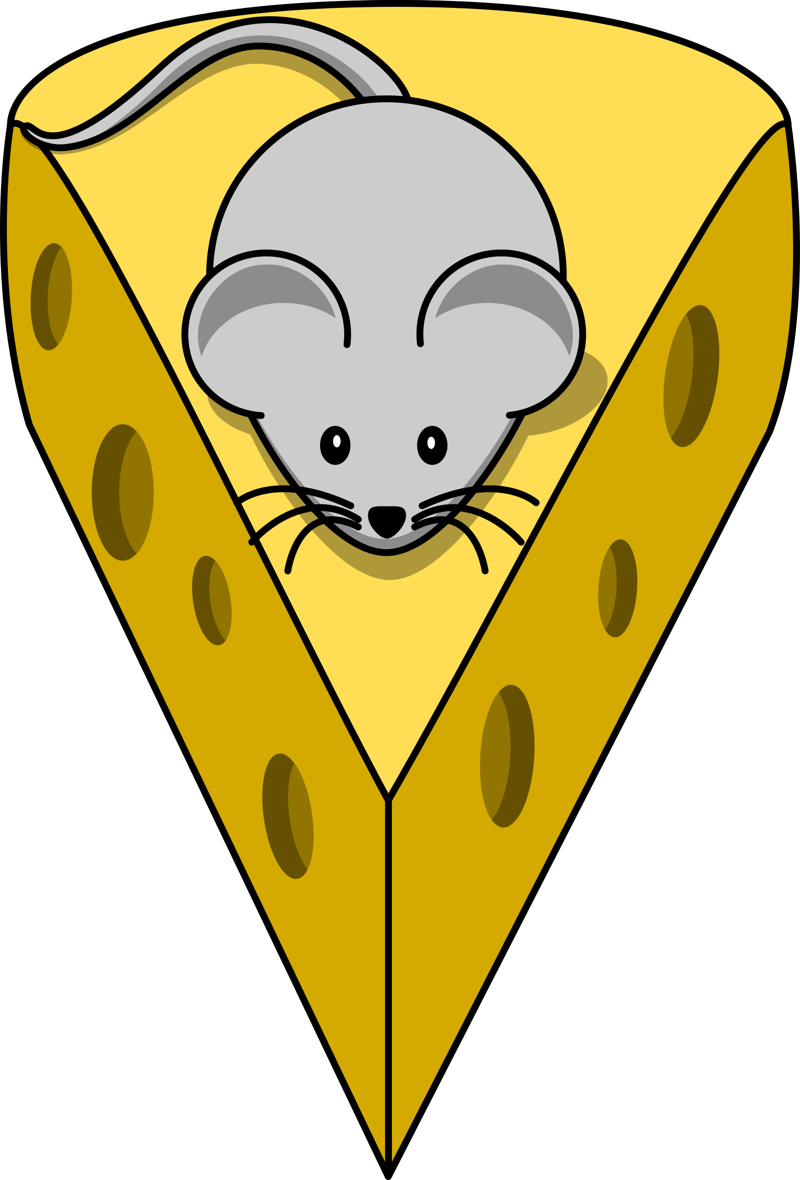 Cartoon mouse on top of a cheese by lemmling